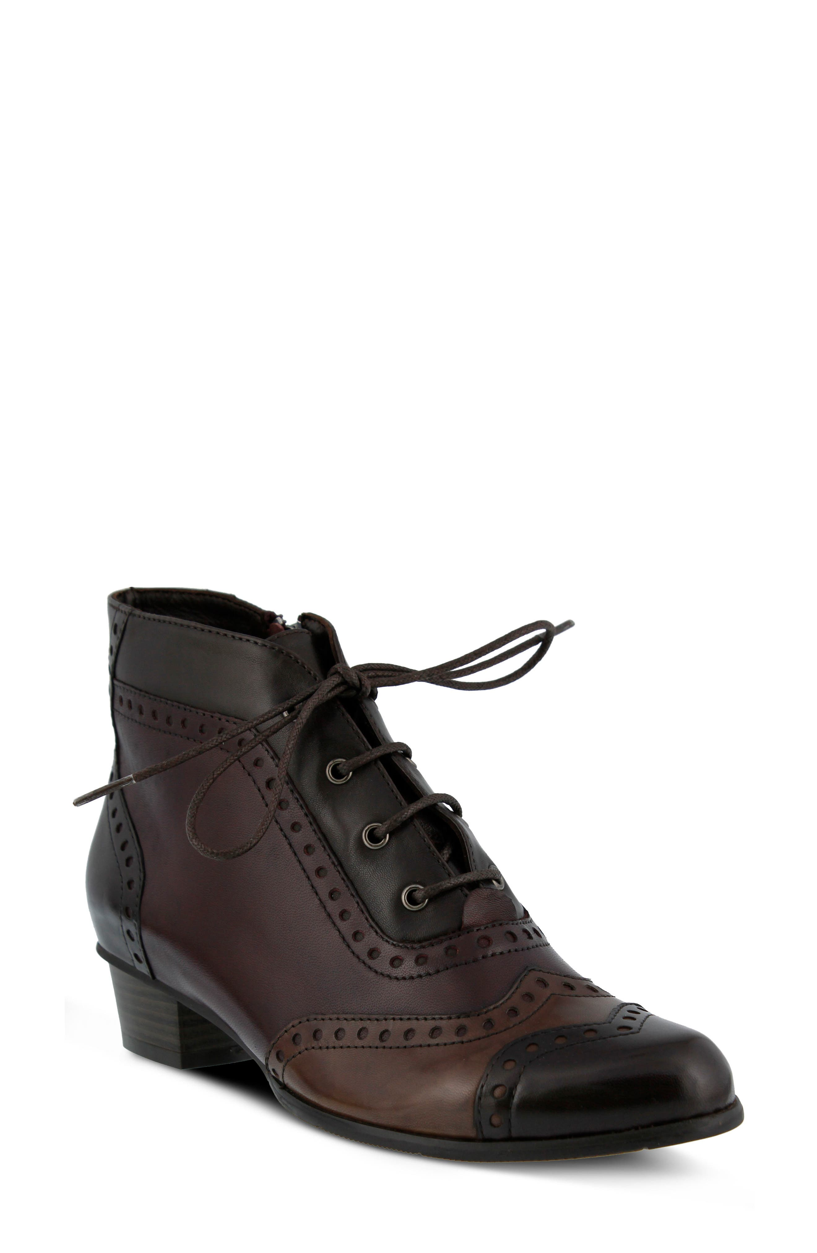 Heroic Bootie,                             Main thumbnail 1, color,                             Brown Multi Leather