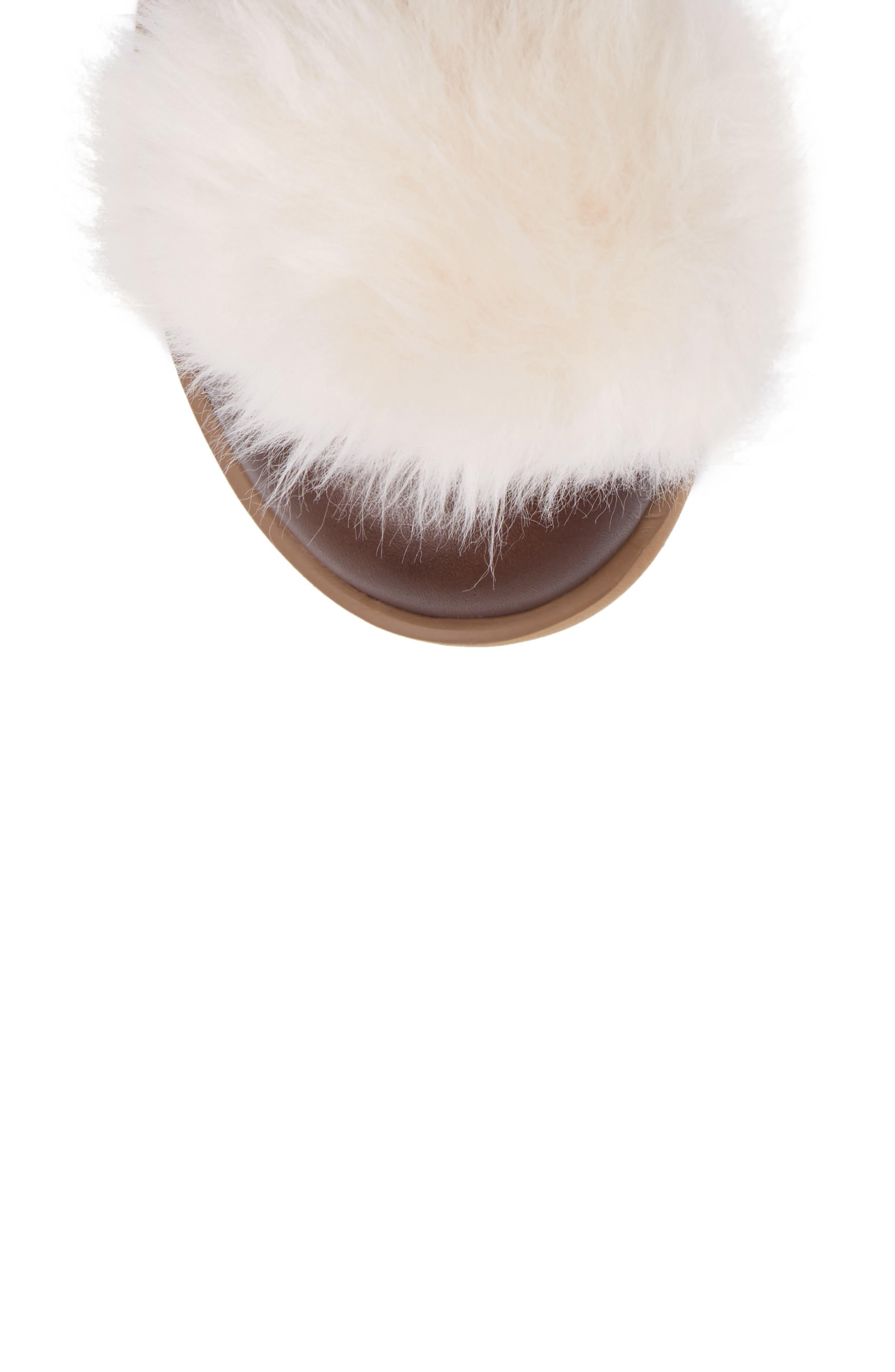 Alternate Image 5  - UGG® Isley Genuine Shearling Pompom Waterproof Boot (Women)