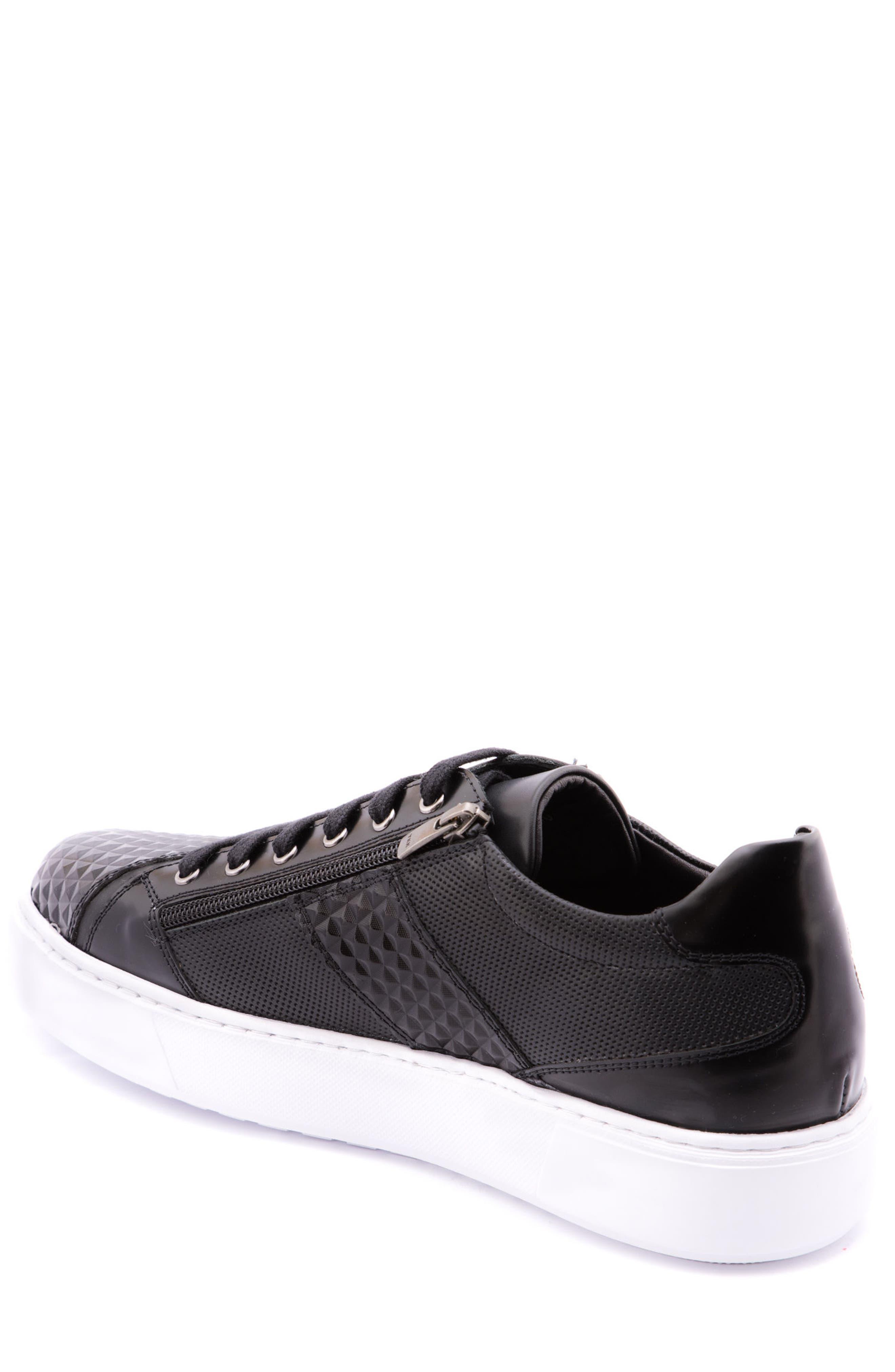 Justin Perforated Sneaker,                             Alternate thumbnail 2, color,                             Black