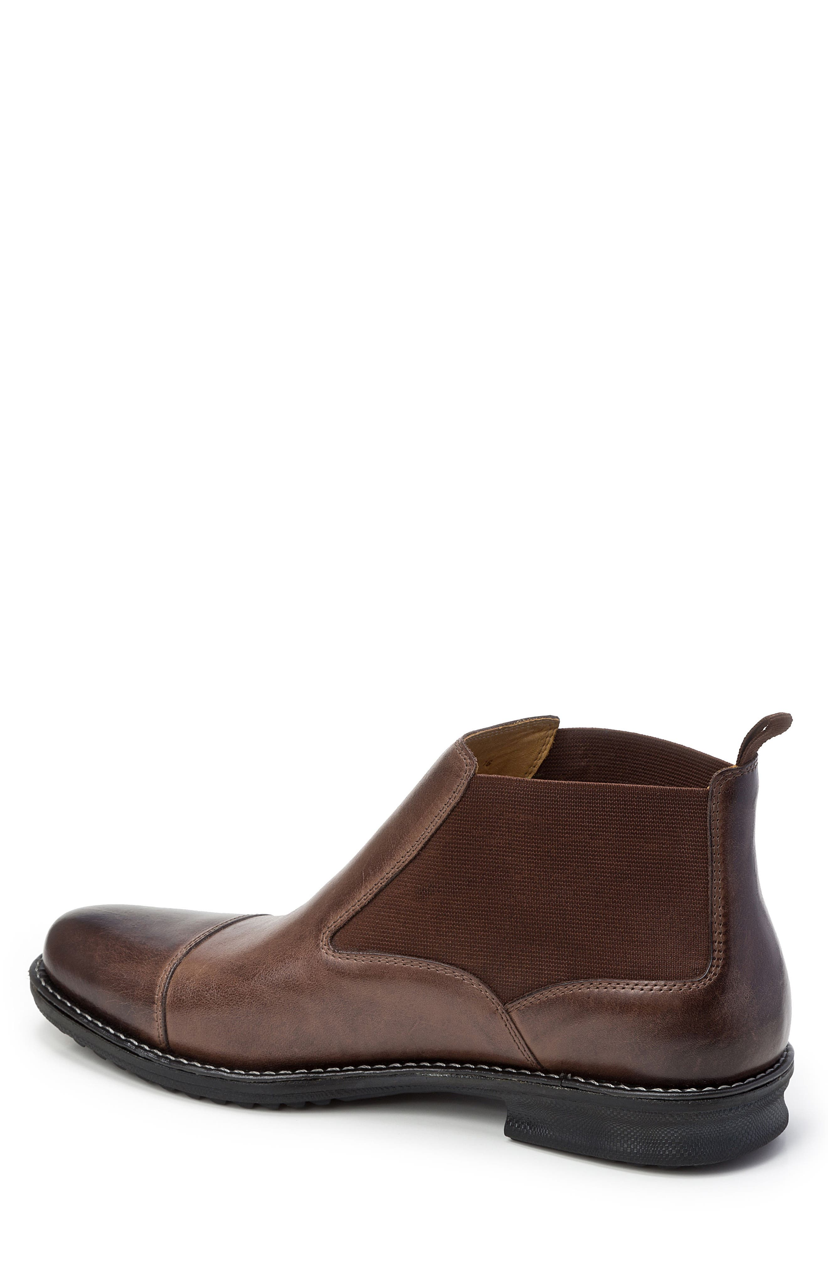 Norbert Chelsea Boot,                             Alternate thumbnail 2, color,                             Brown Leather