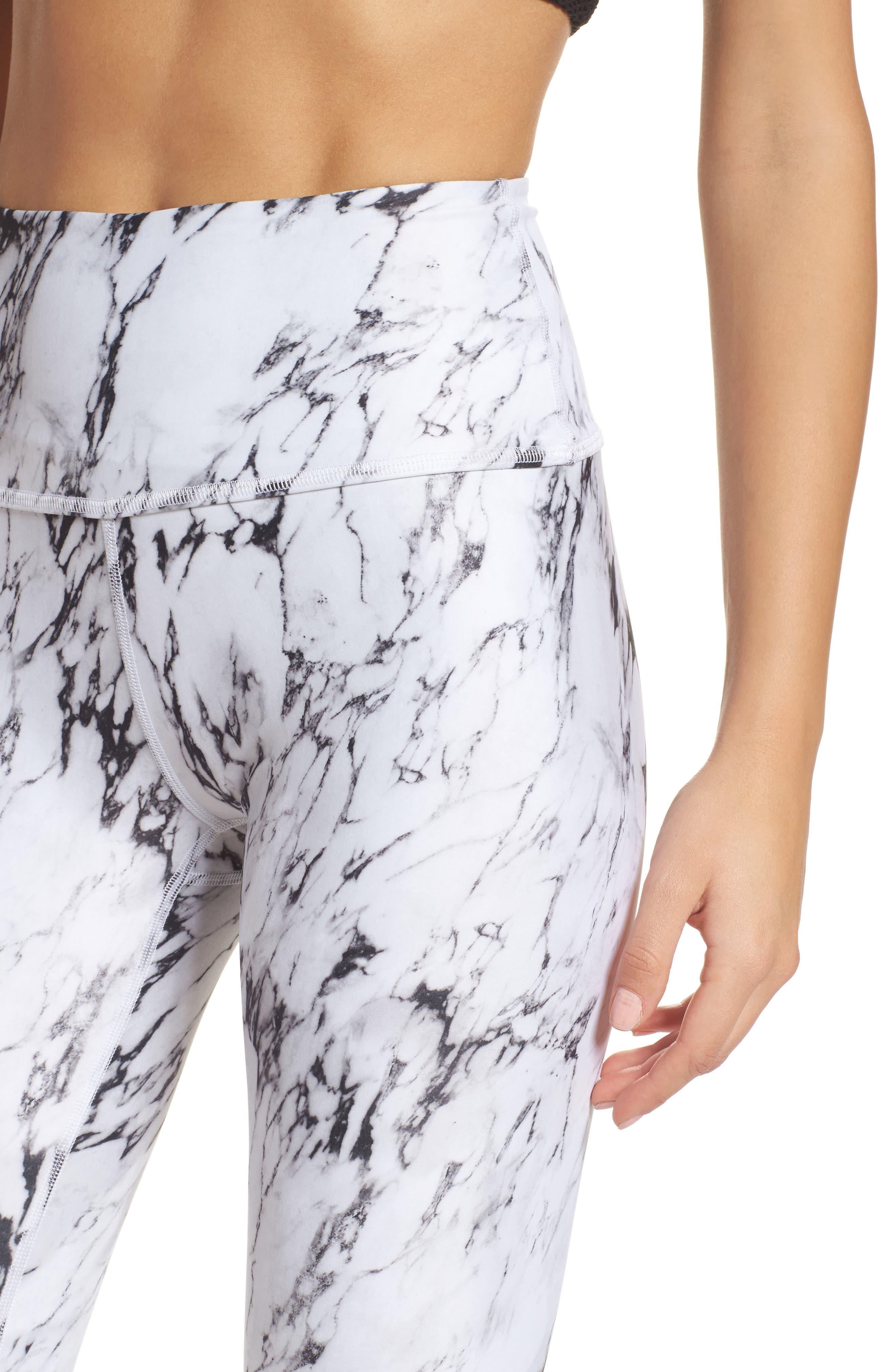 Alternate Image 4  - Beyond Yoga High Waist Print Leggings