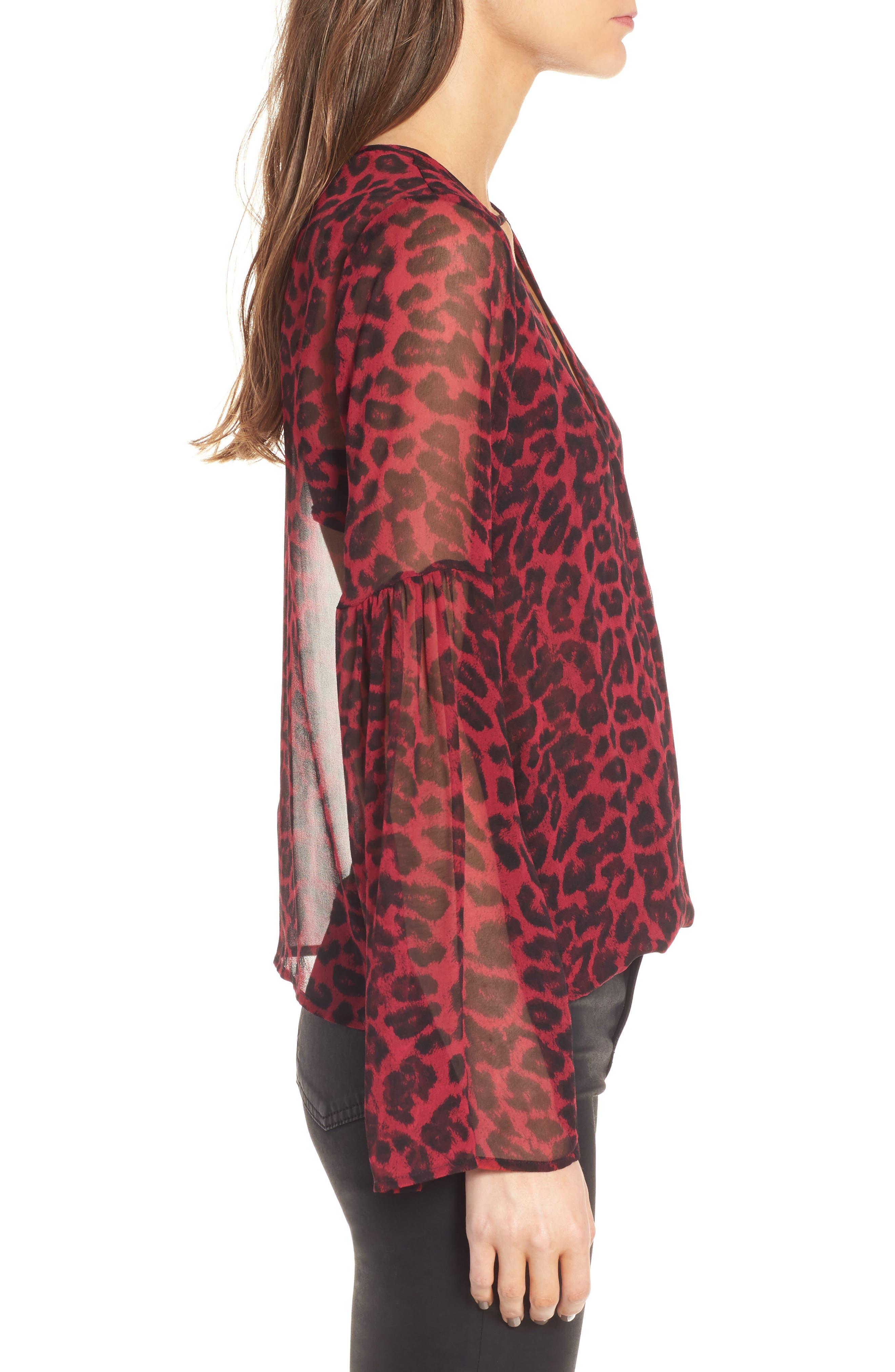 Alternate Image 3  - Ella Moss Tigris Print Silk Shirt