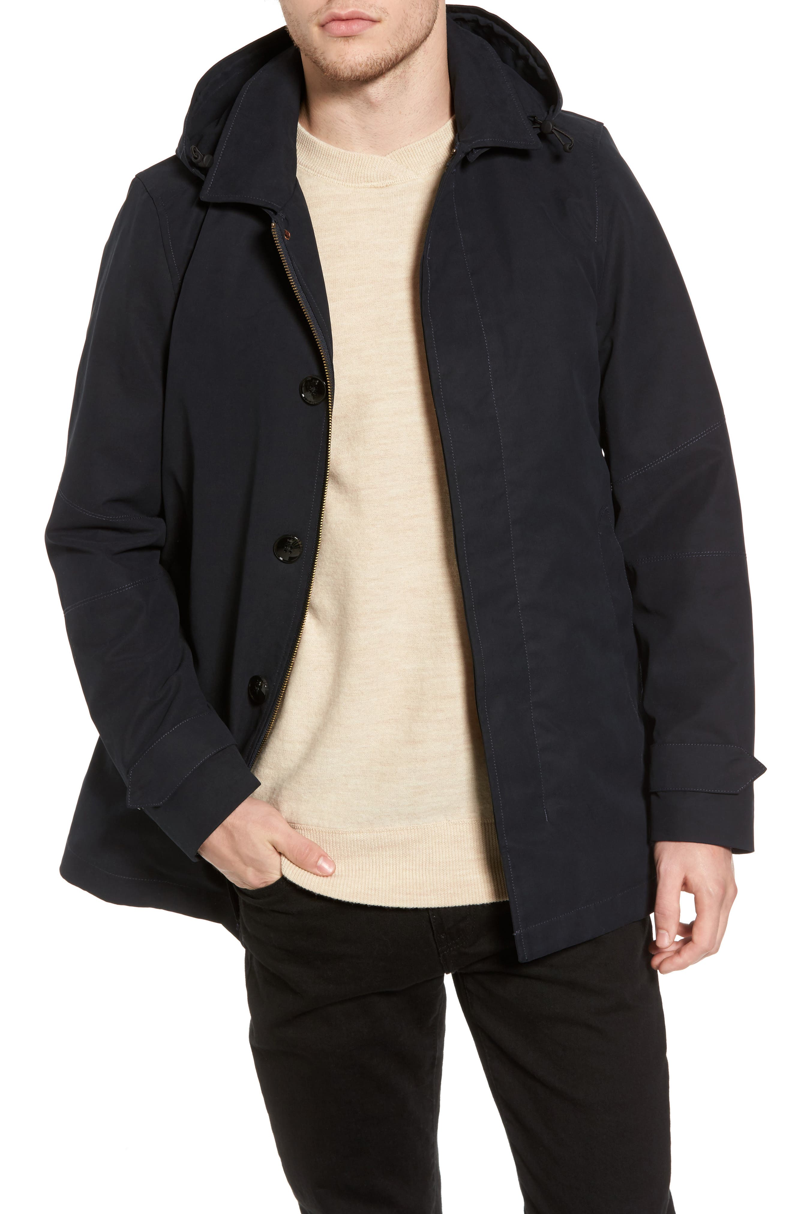 Classic Parka with Removable Hood,                         Main,                         color, Midnight