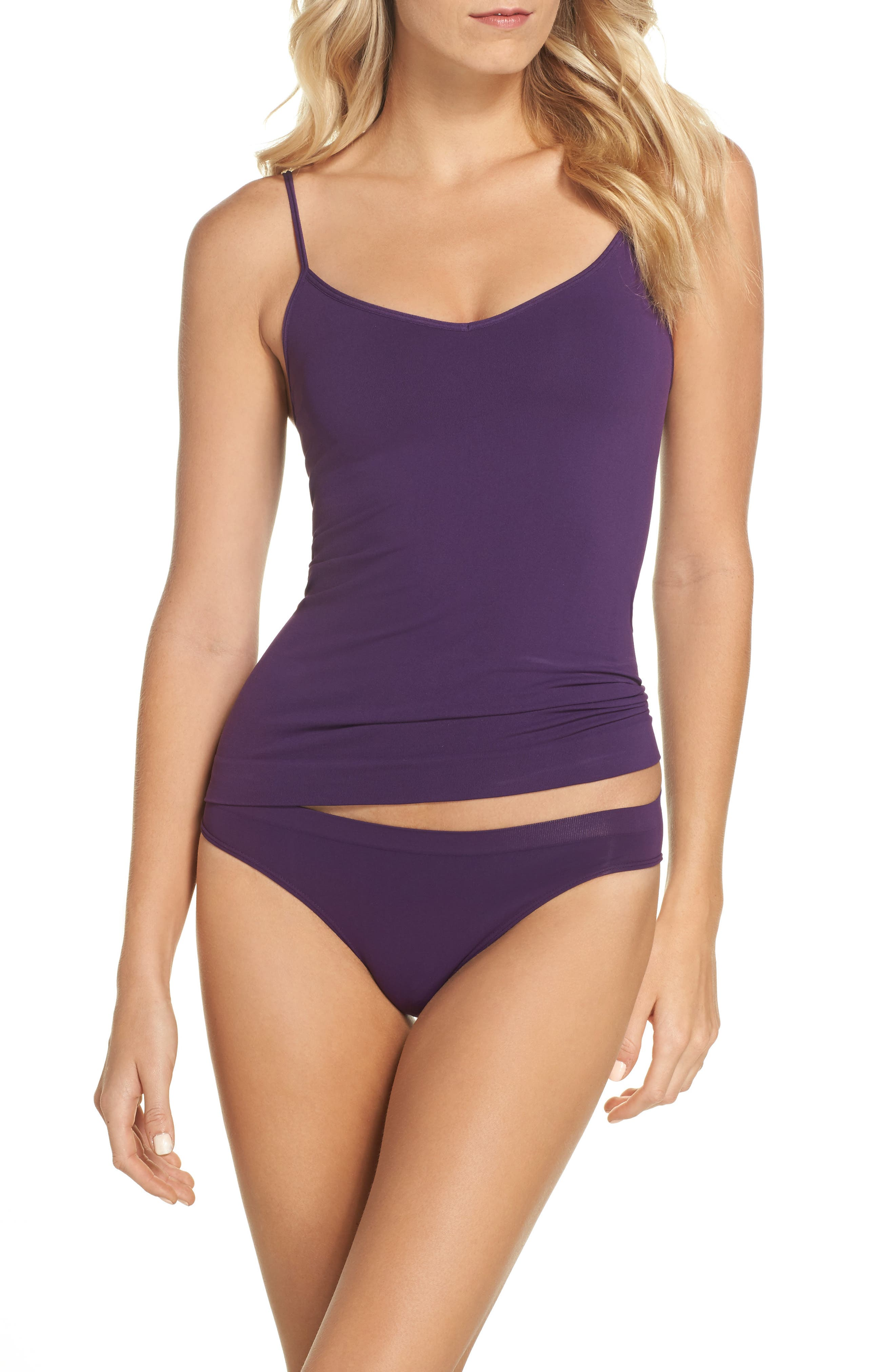 Alternate Image 5  - Halogen® Seamless Two-Way Camisole (2 for $49)