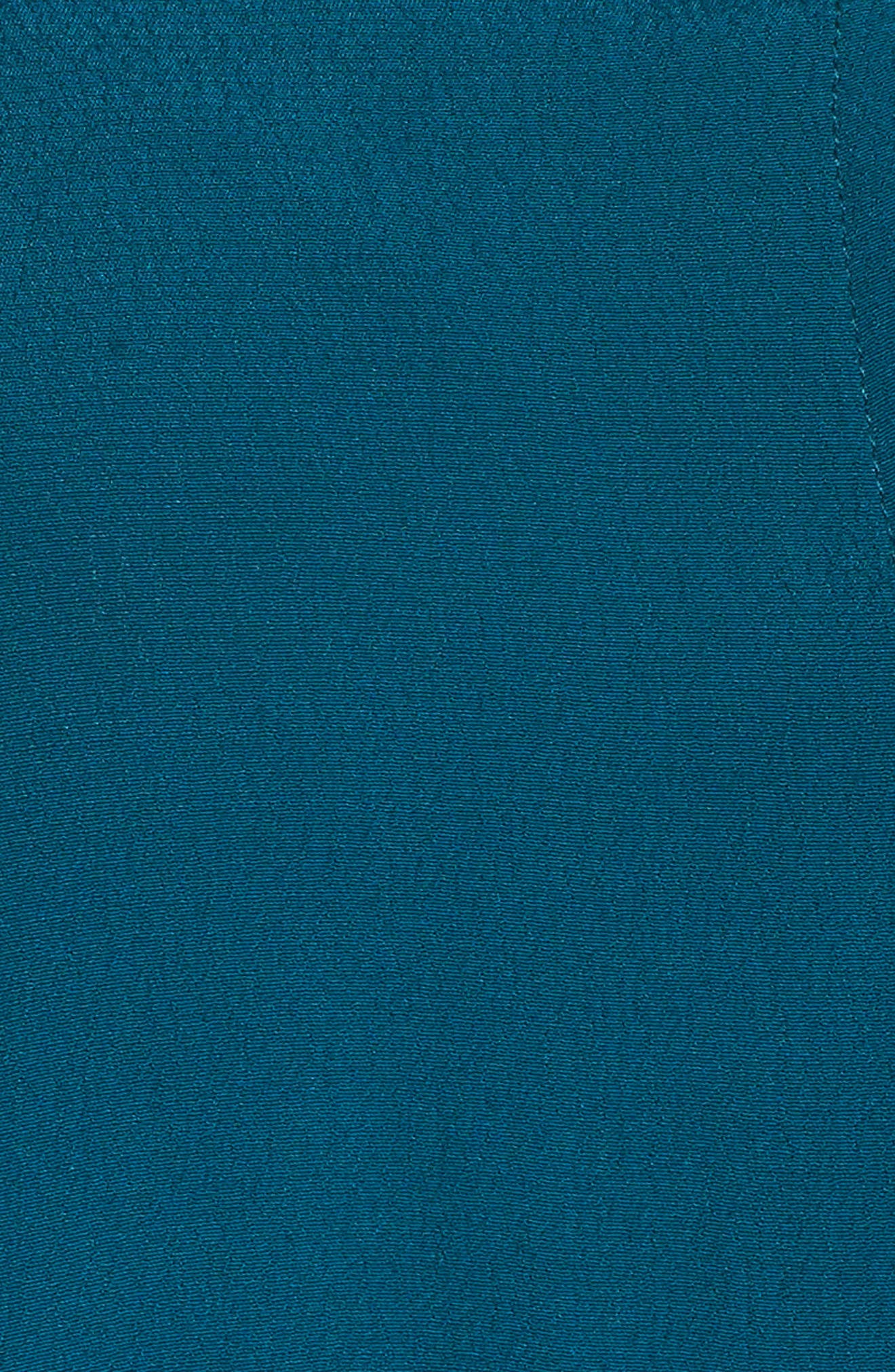 Button Front Trapeze Dress,                             Alternate thumbnail 5, color,                             Teal