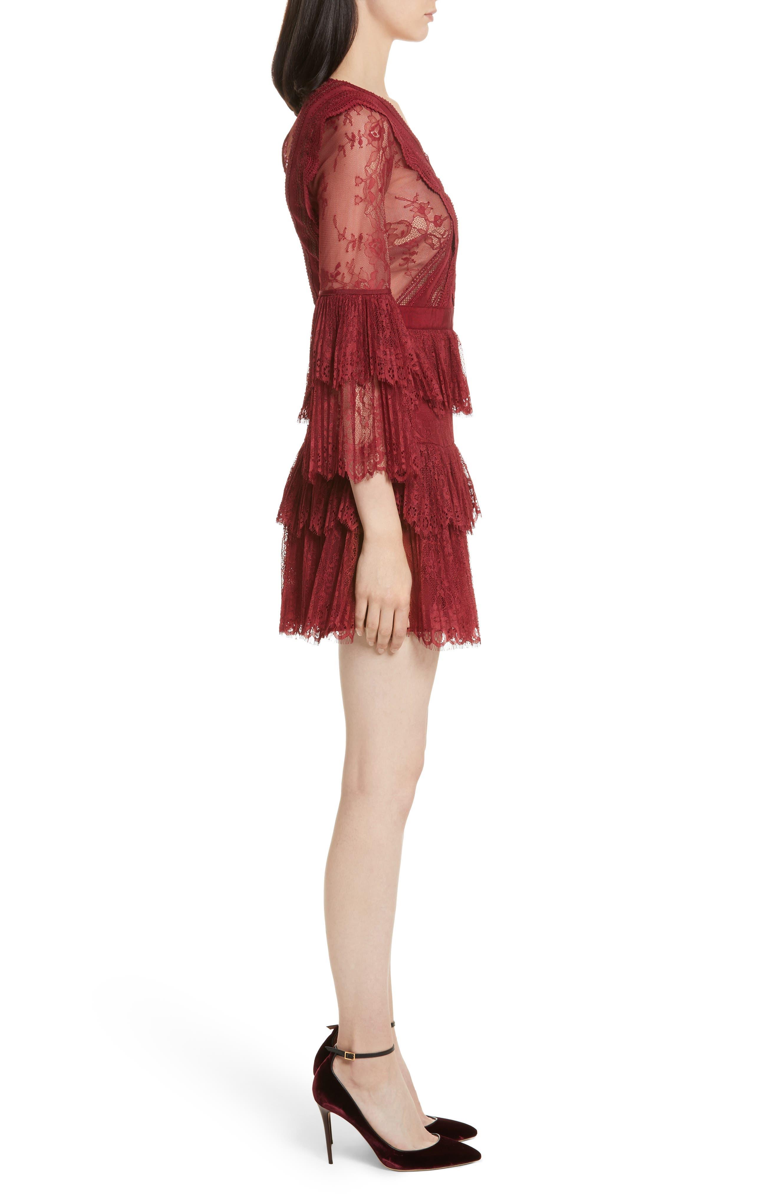 Alternate Image 3  - Self-Portrait Pleated Lace Dress