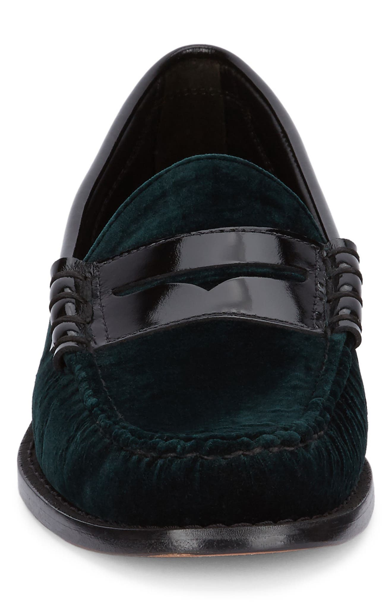 Larson Penny Loafer,                             Alternate thumbnail 4, color,                             Hunter Green