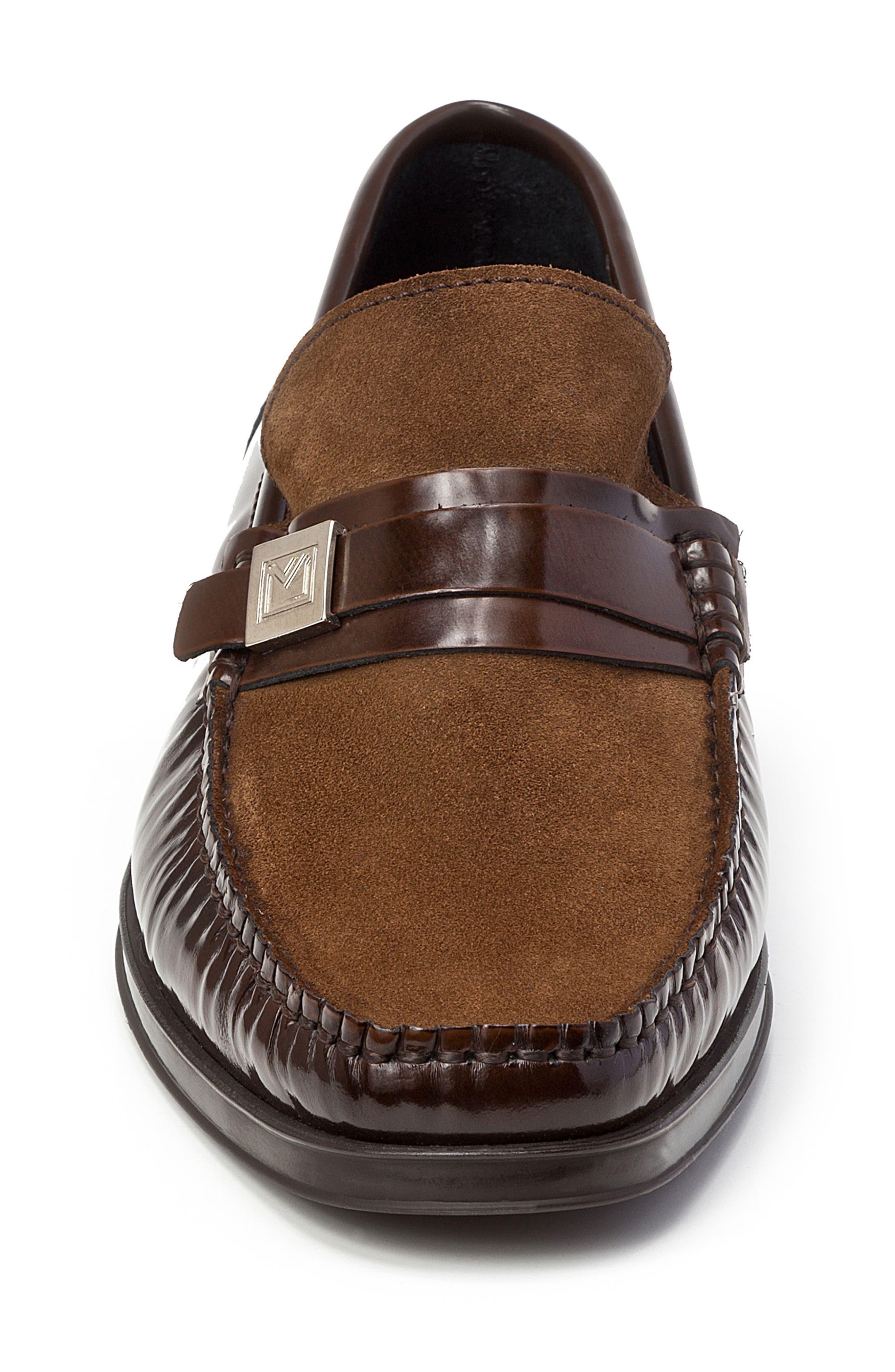 Avila Loafer,                             Alternate thumbnail 4, color,                             Brown Leather