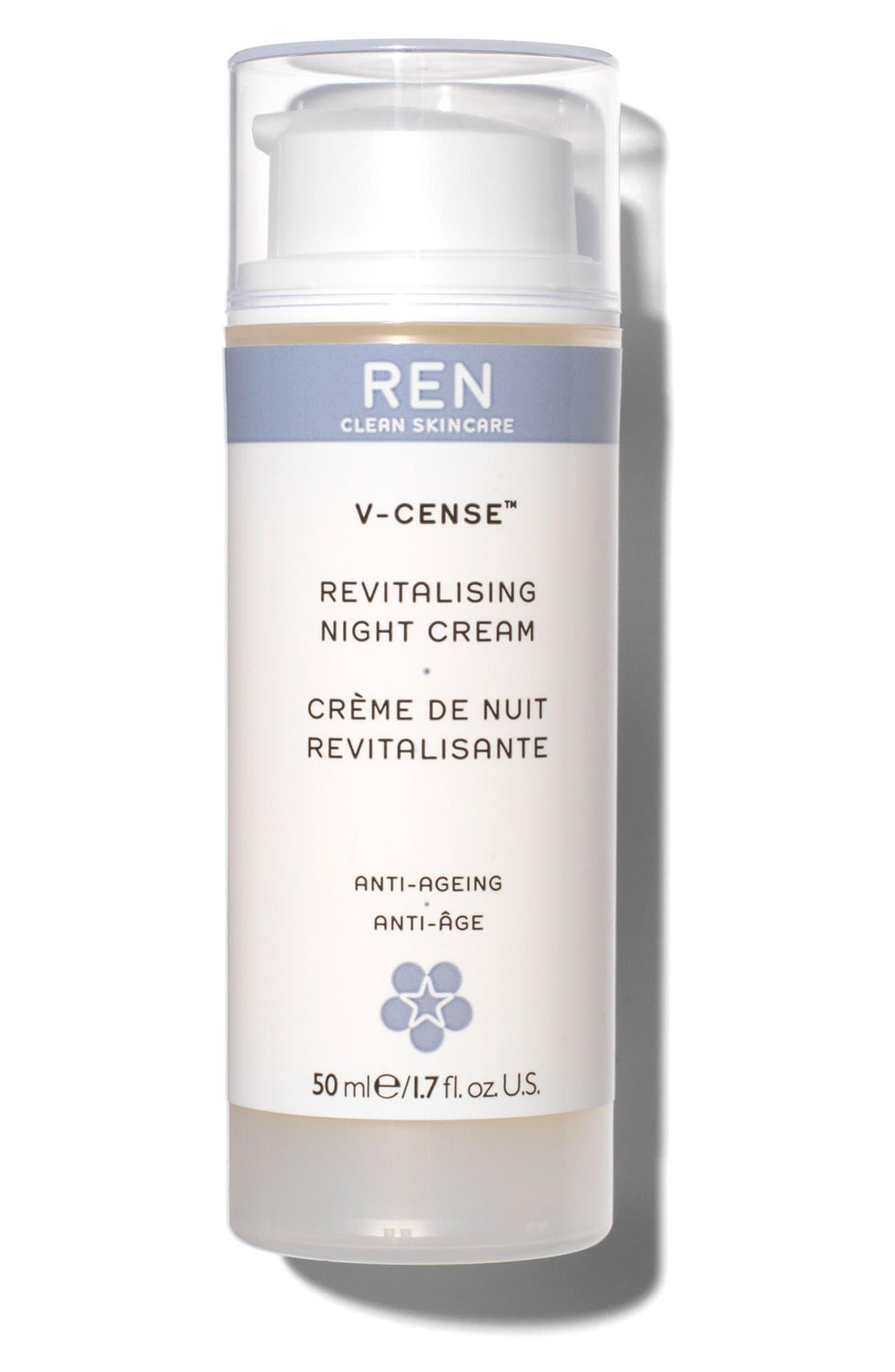 SPACE.NK.apothecary REN V-Cense<sup>™</sup> Revitalizing Night Cream,                         Main,                         color, No Color