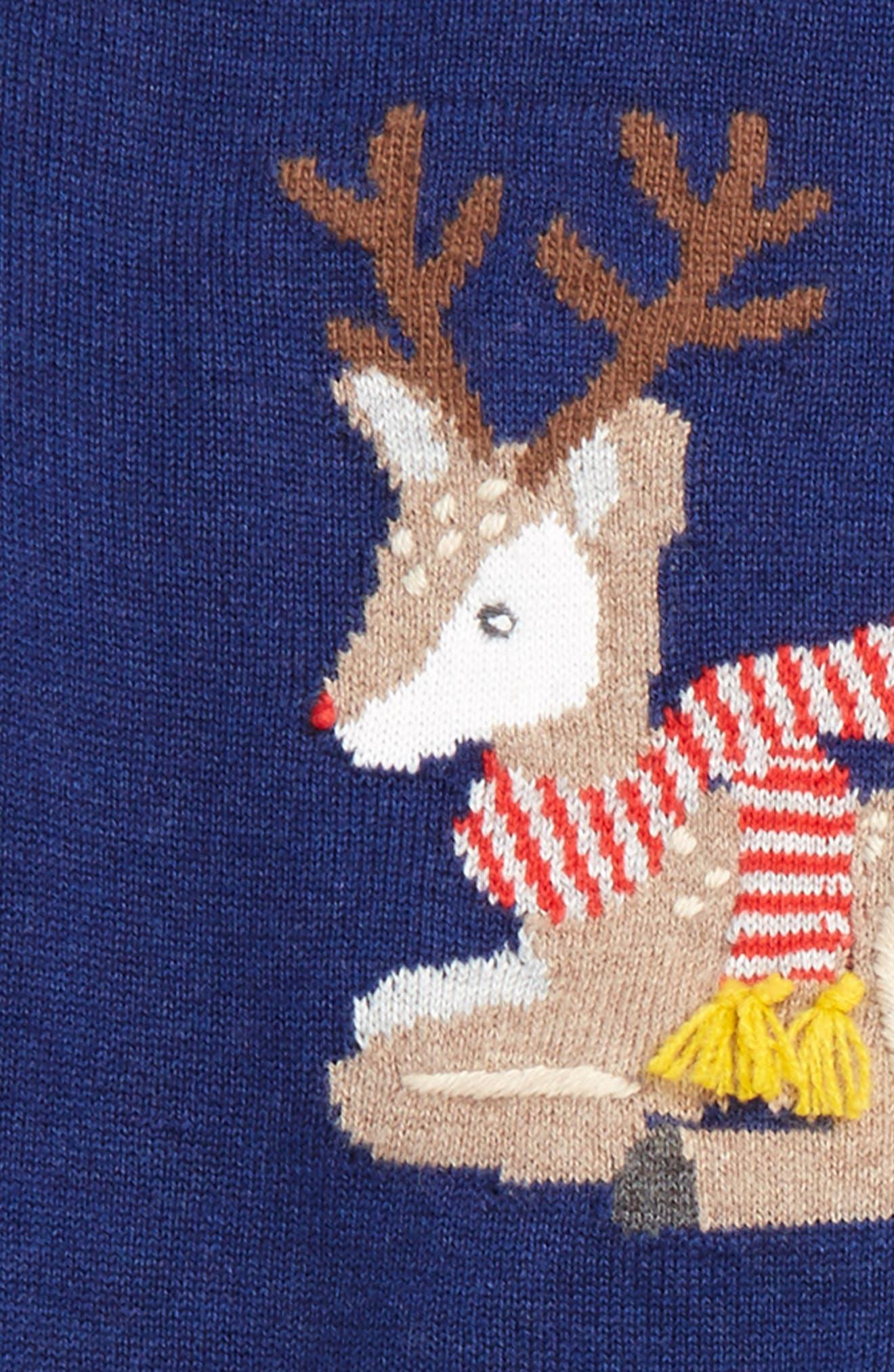Alternate Image 2  - Mini Boden Fun Knit Sweater & Pants Set (Baby Boys & Toddler Boys)