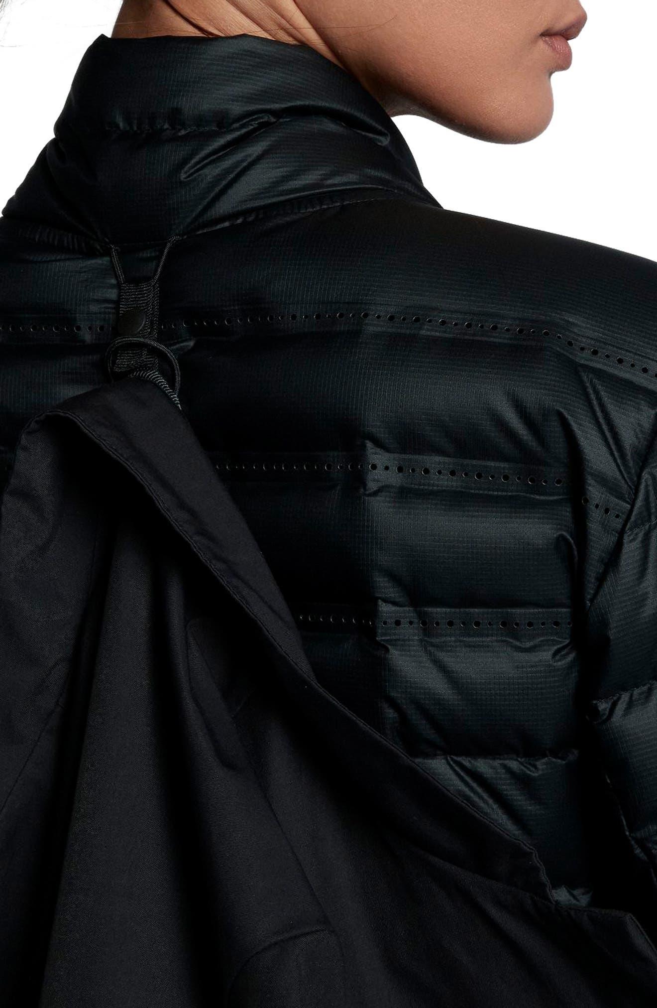 Sportswear AeroLoft 3-in-1 Down Jacket,                             Alternate thumbnail 7, color,                             Black/ Black/ Black