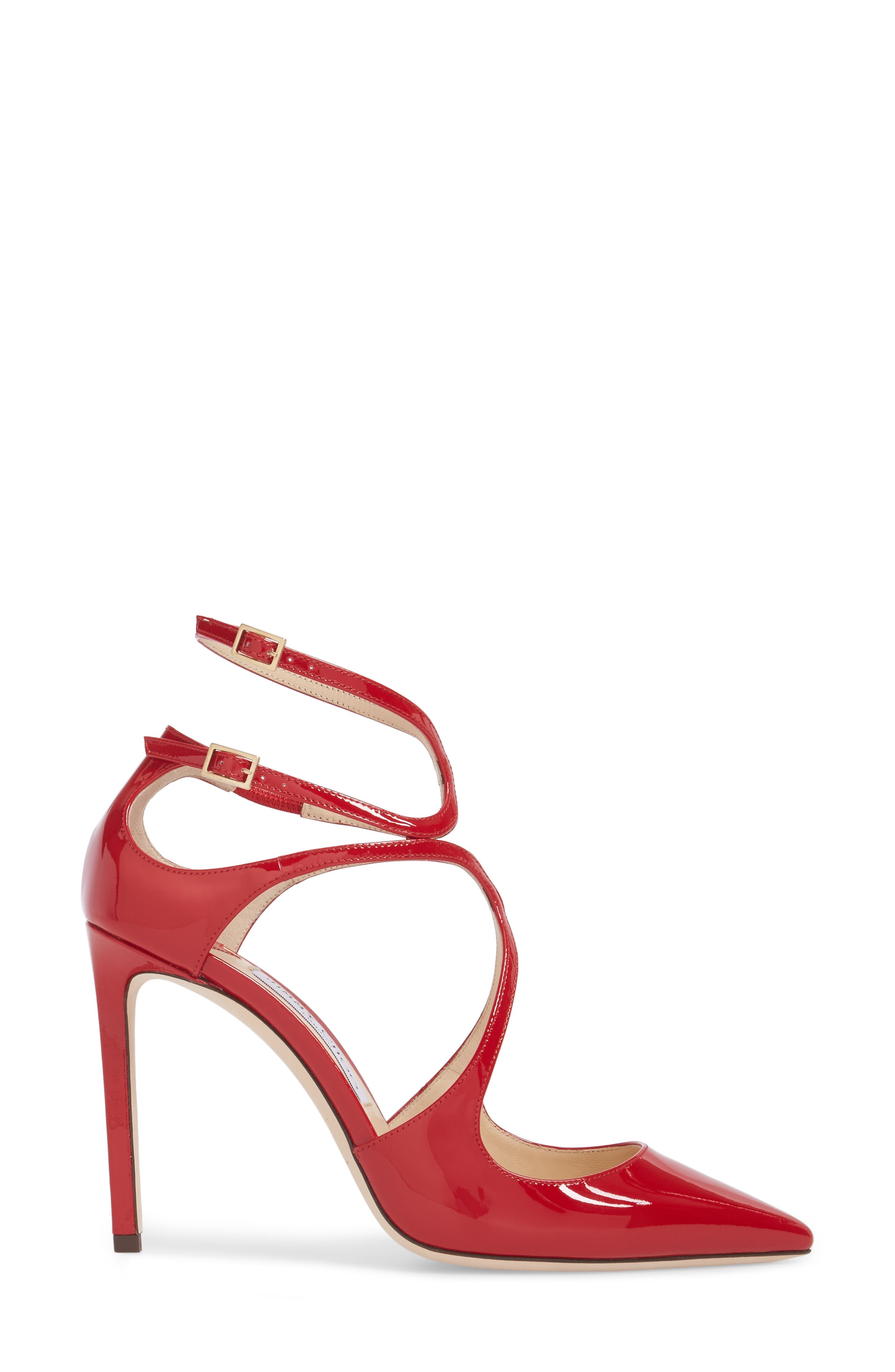 Lancer Strappy Pump,                             Alternate thumbnail 3, color,                             Red Patent