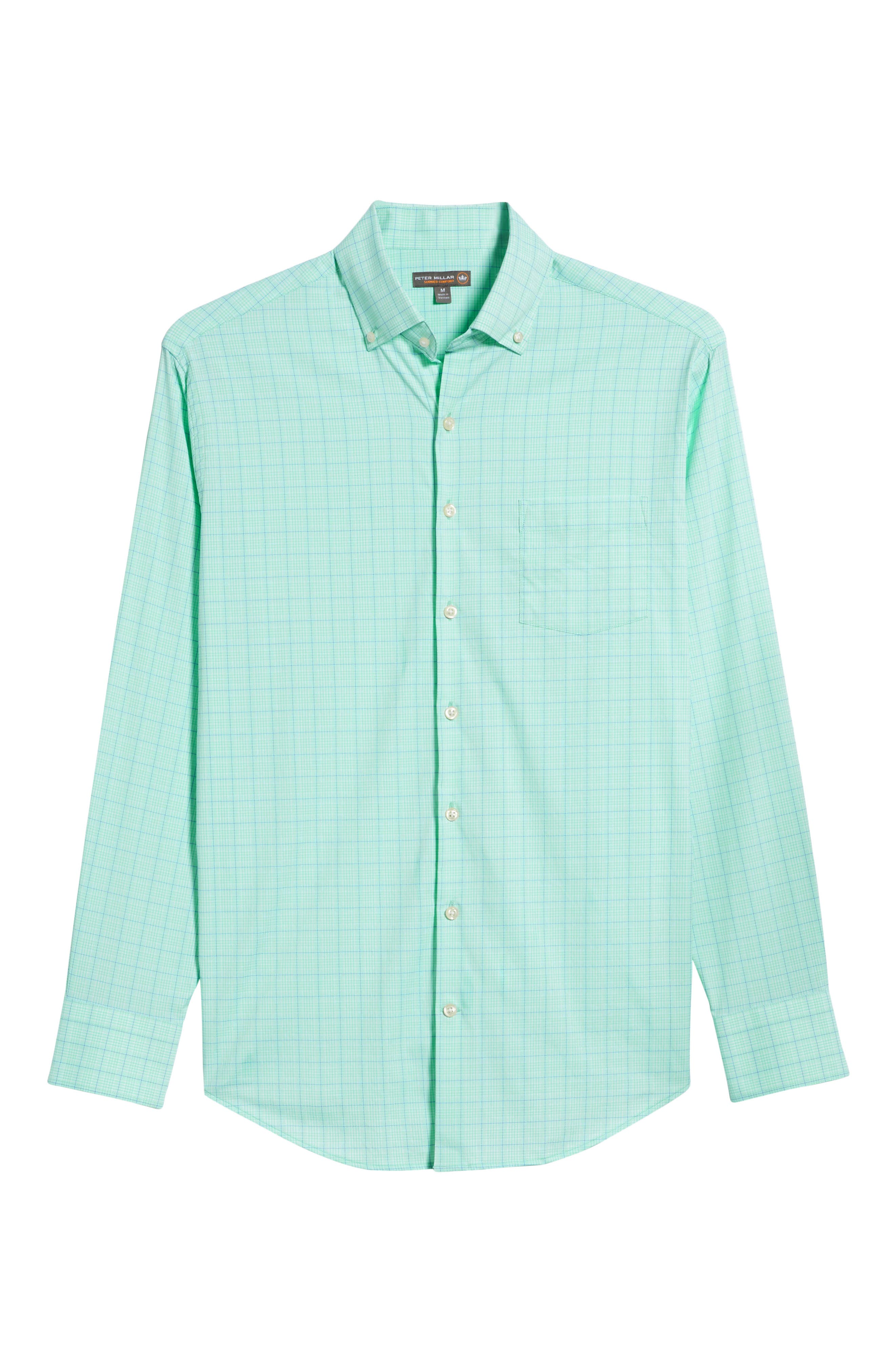 McConnell Plaid Performance Sport Shirt,                             Alternate thumbnail 6, color,                             Cays