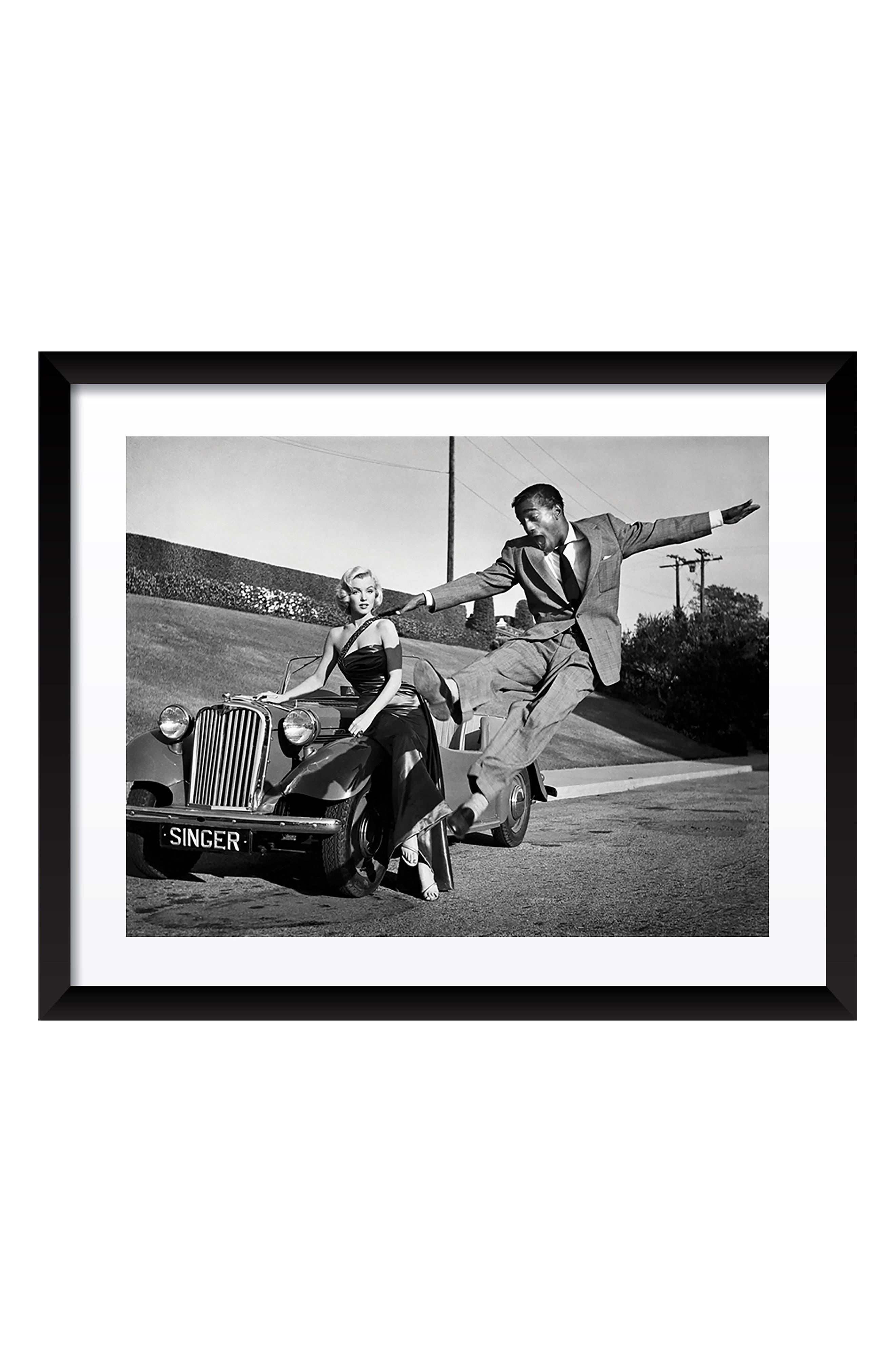 Marilyn Monroe & Sammy Davis Jr. Fine Art Print,                         Main,                         color, Black