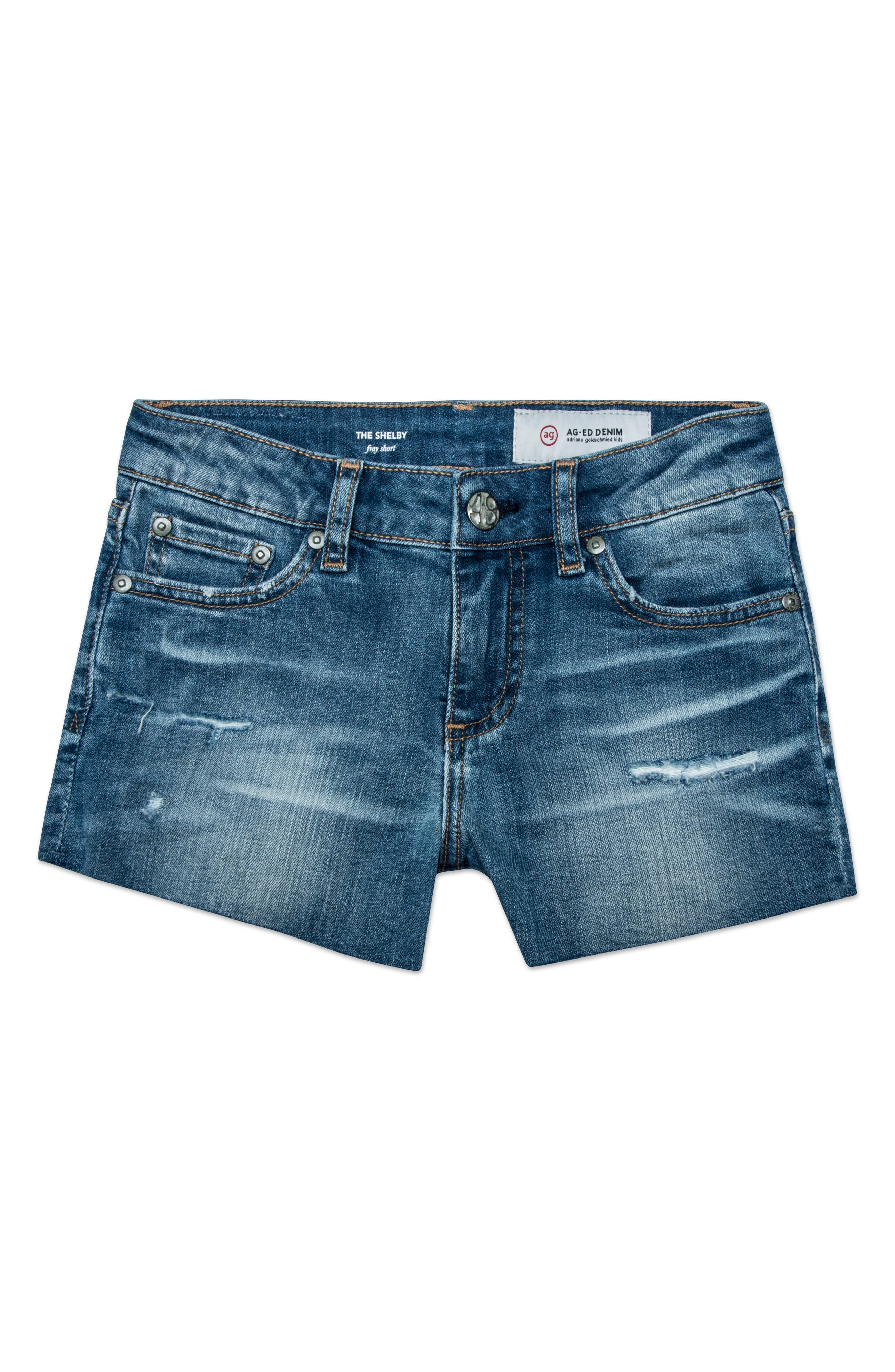 Main Image - ag adriano goldschmied kids The Shelby Cutoff Shorts (Big Girls)