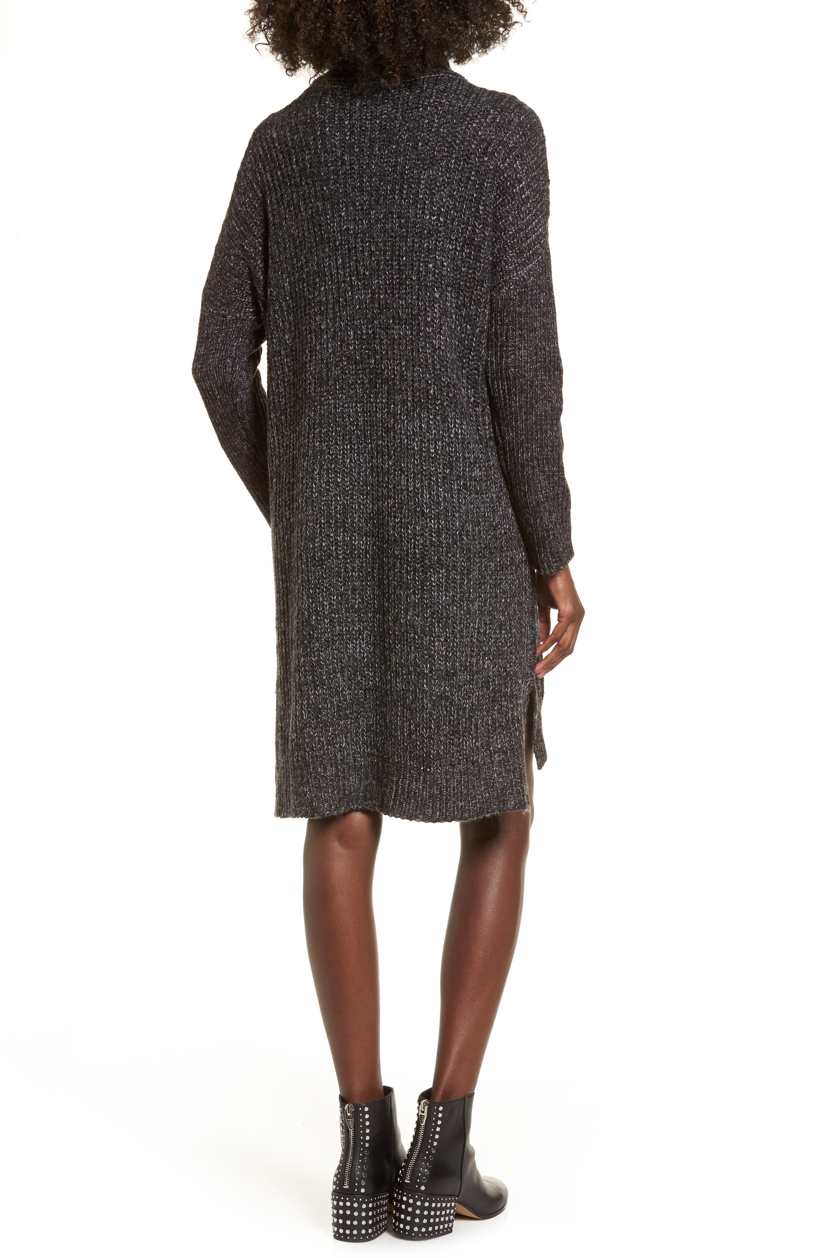 Alternate Image 2  - Cotton Emporium Chunky Turtleneck Sweater Dress