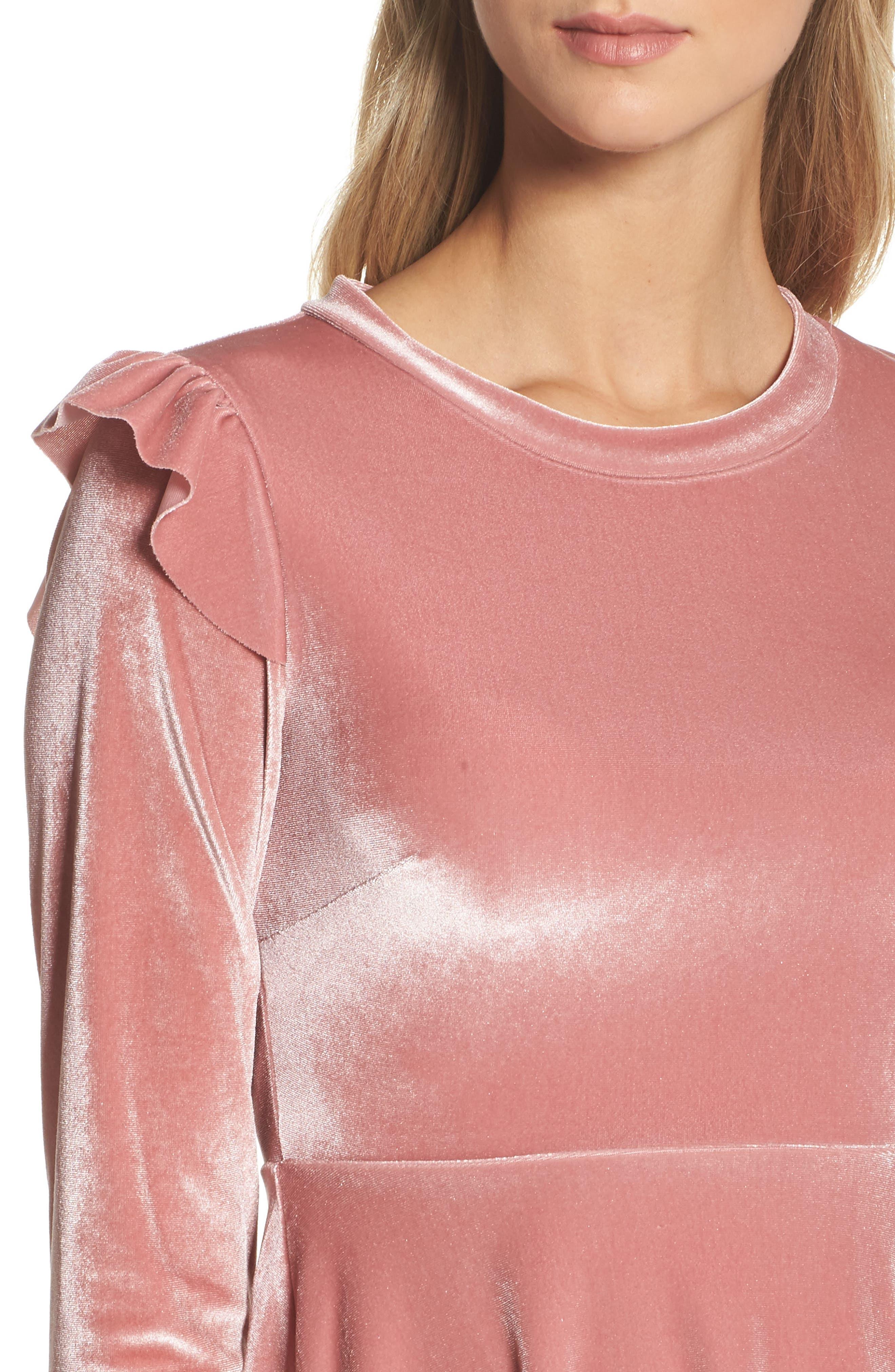 Alternate Image 4  - NSR Velvet Fit & Flare Dress