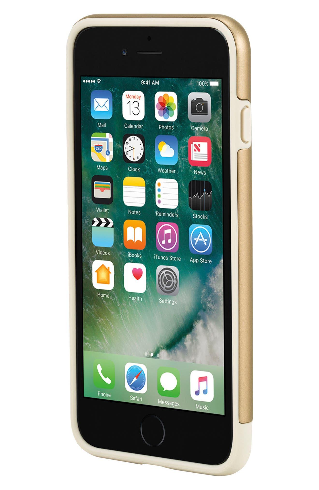 iPhone 7 Plus/8 Plus Case,                             Alternate thumbnail 8, color,                             Gold