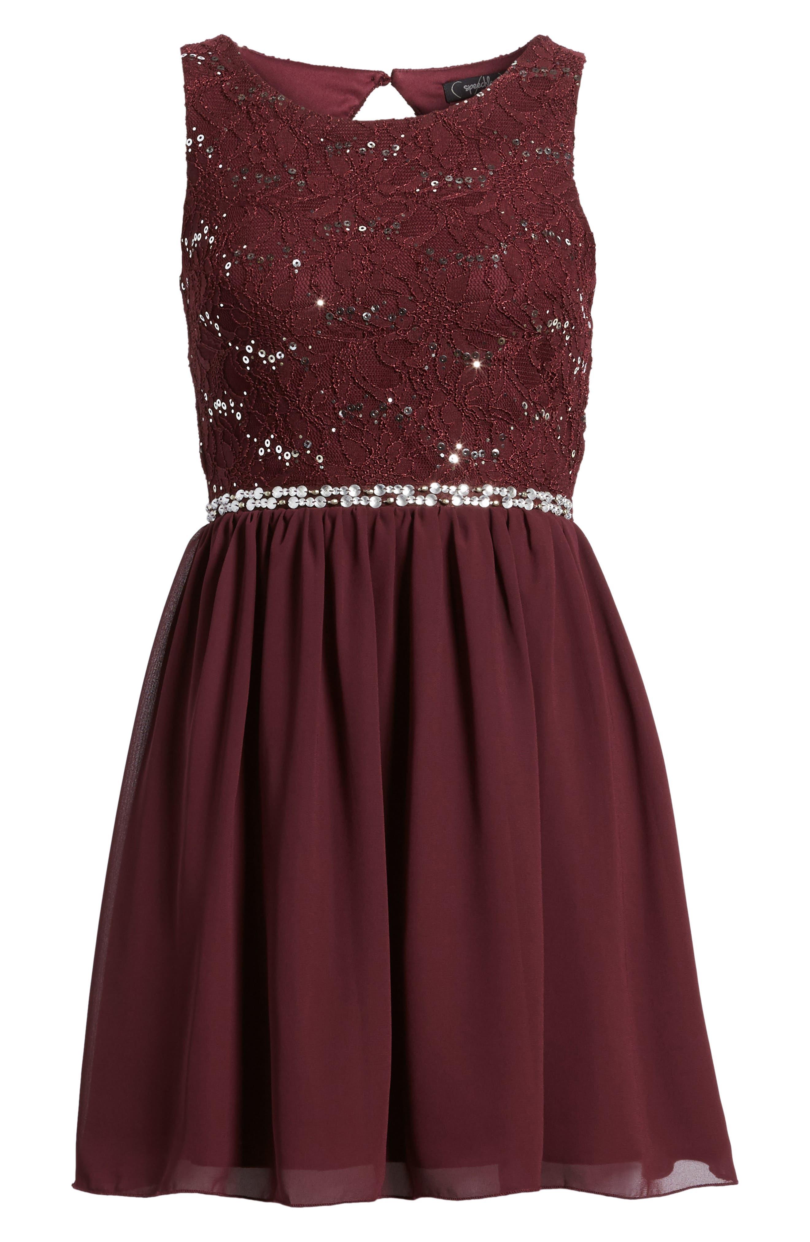 Alternate Image 6  - Speechless Jeweled Belt Dress