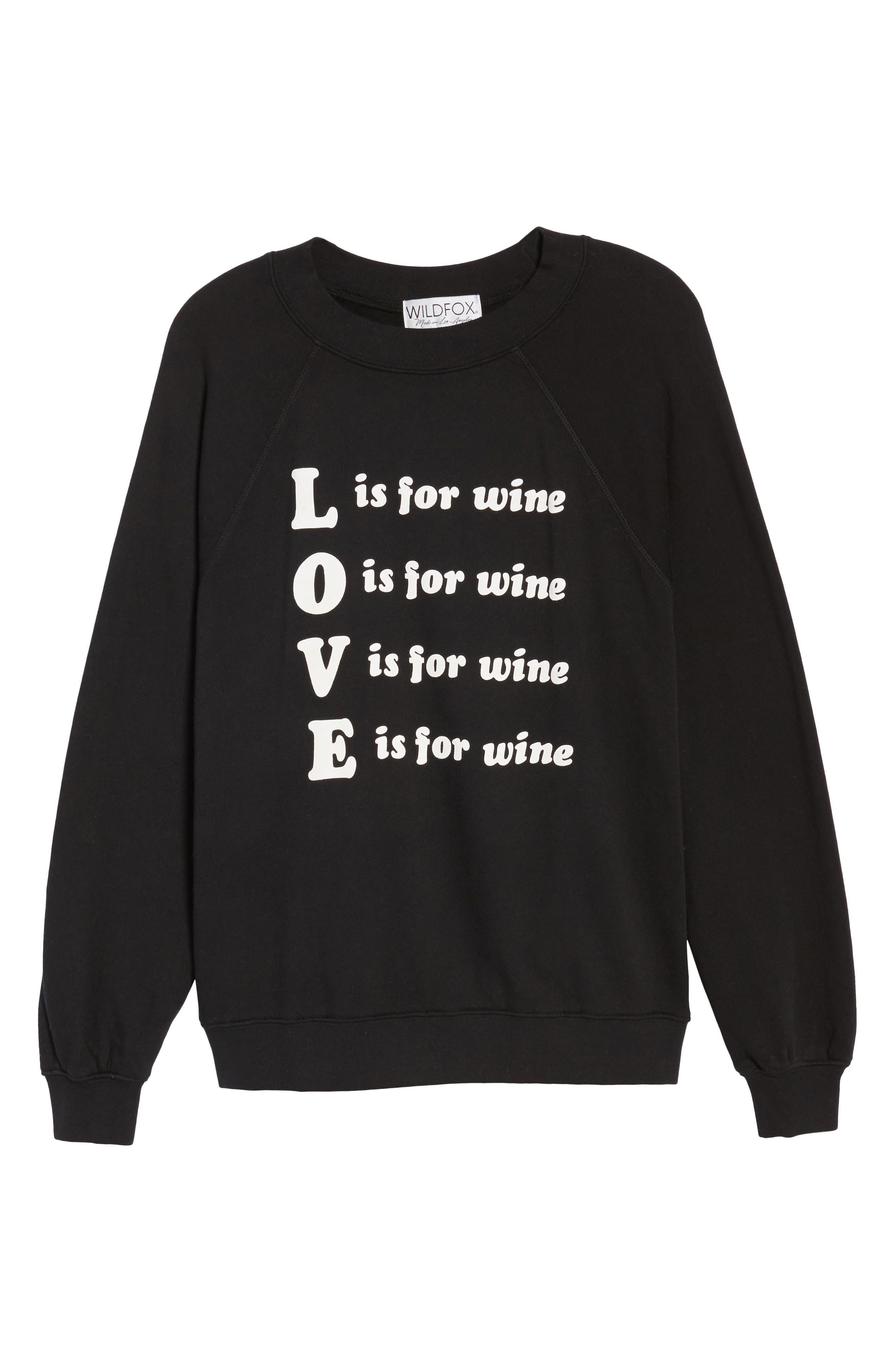 Wino - Sommers Sweatshirt,                             Alternate thumbnail 6, color,                             Black
