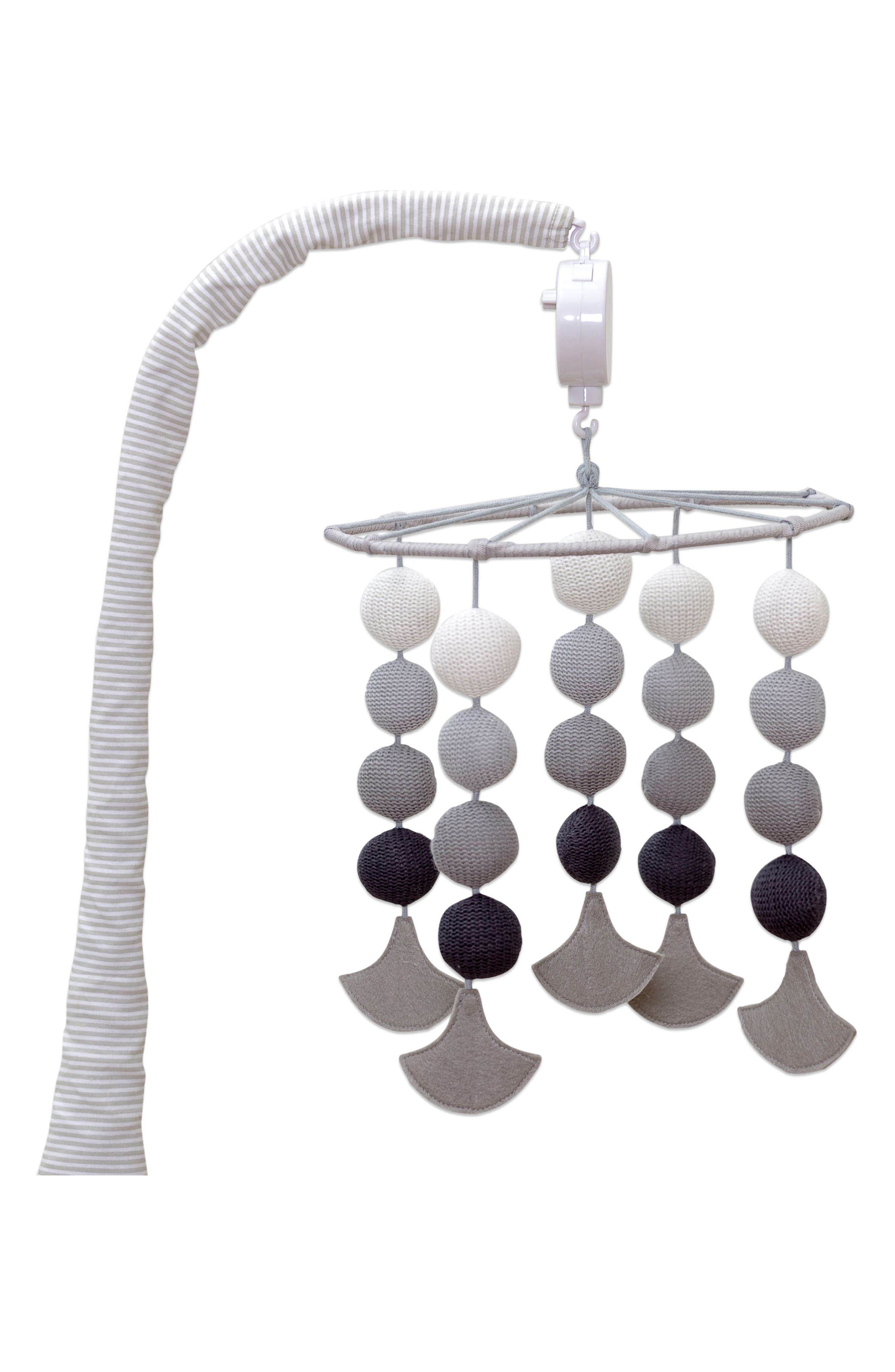 Kayden Musical Mobile,                         Main,                         color, Grey And Mint Scallop
