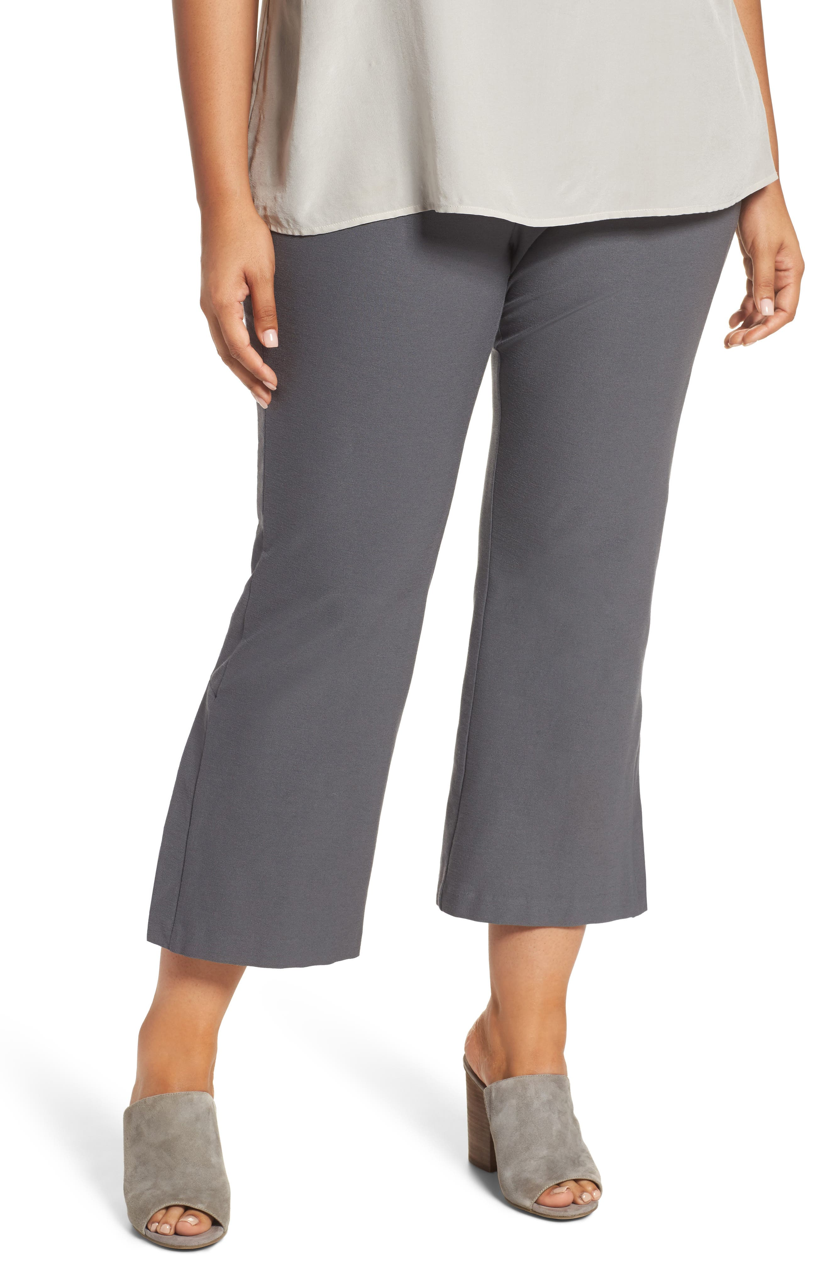 Main Image - Eileen Fisher Stretch Bootcut Pants (Plus Size)