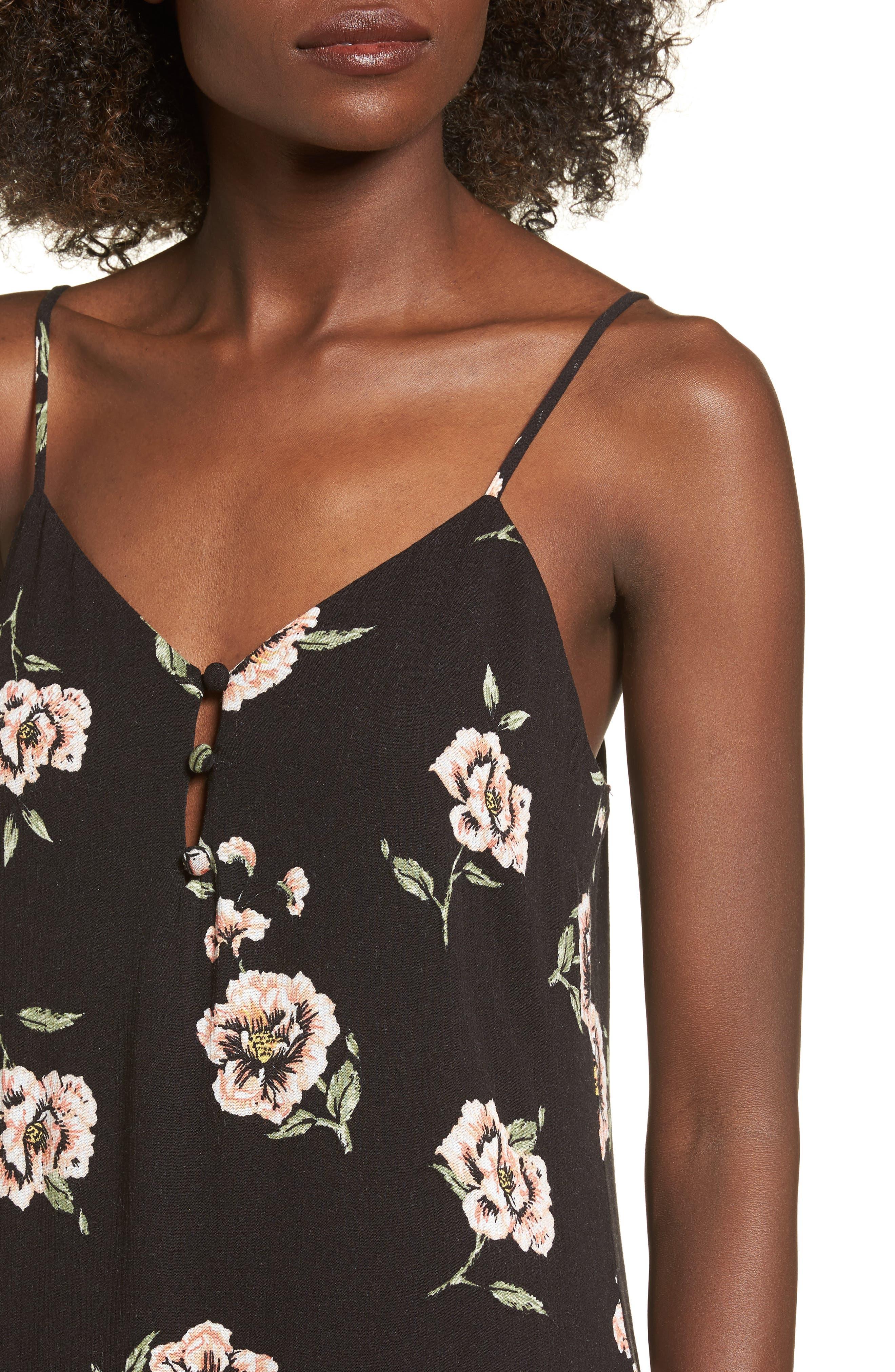 Alternate Image 4  - Dee Elly Floral Slipdress