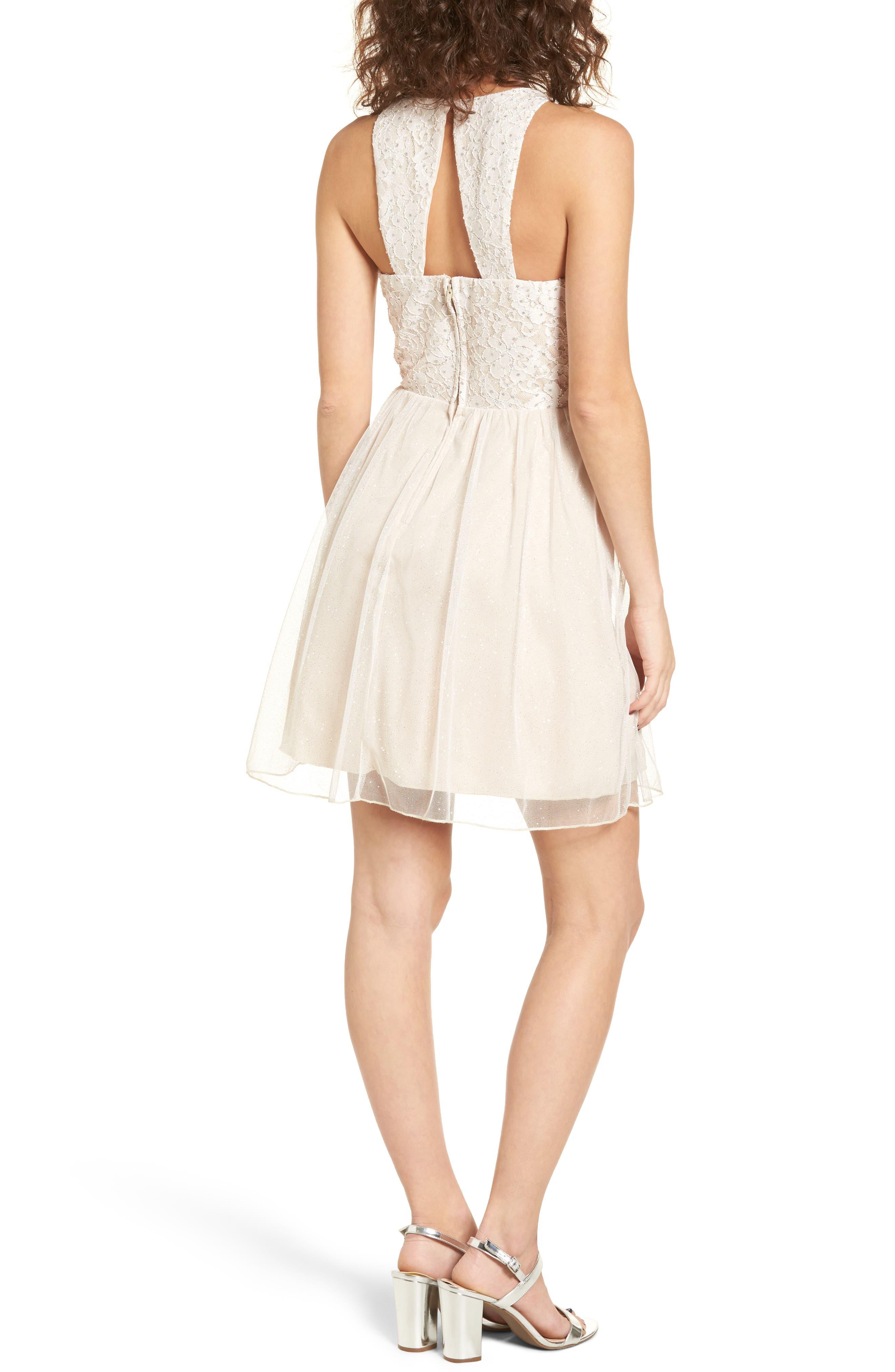 Glitter Tulle Dress,                             Alternate thumbnail 2, color,                             Blush