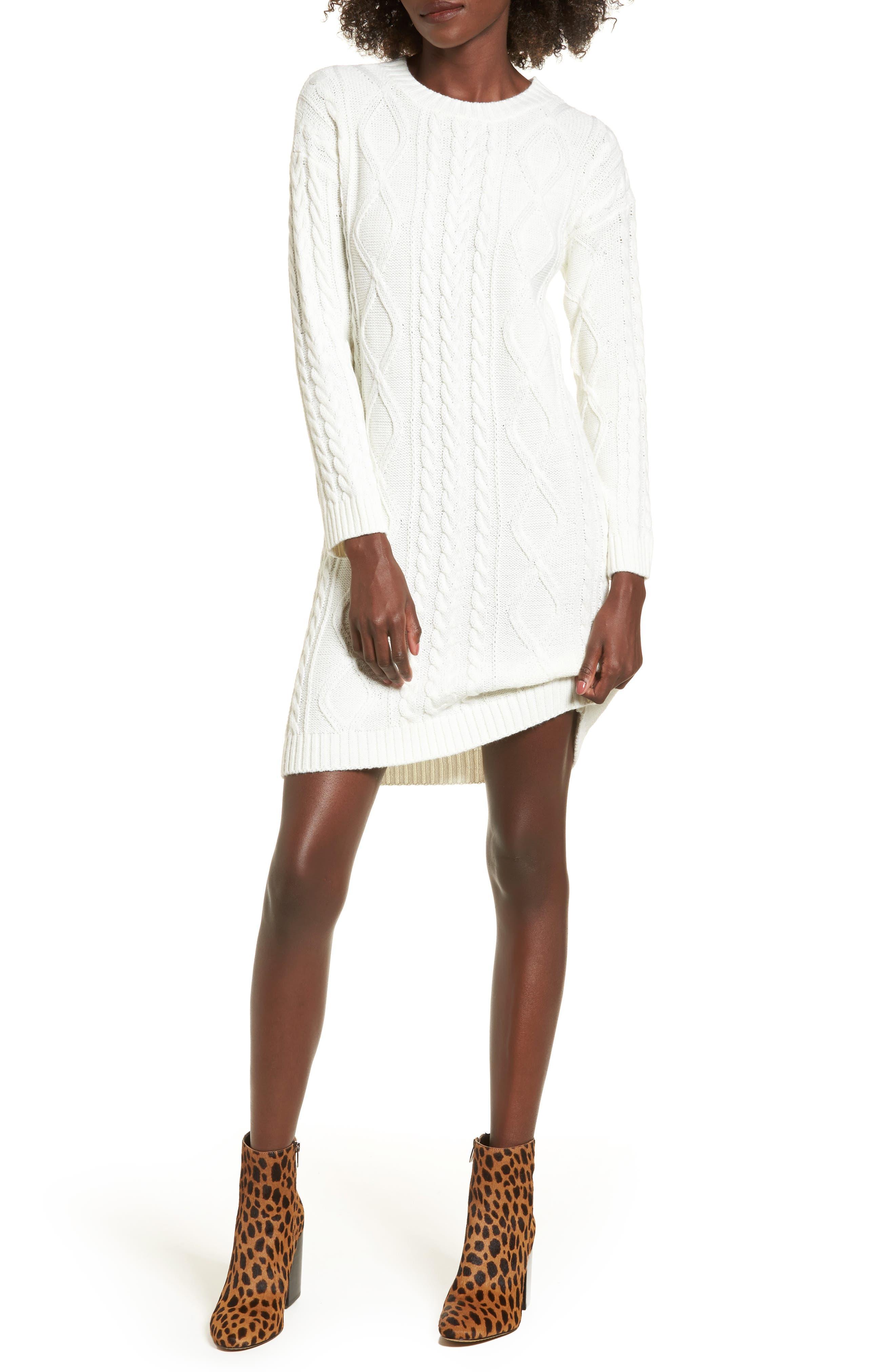Cotton Emporium Cable Knit Sweater Dress