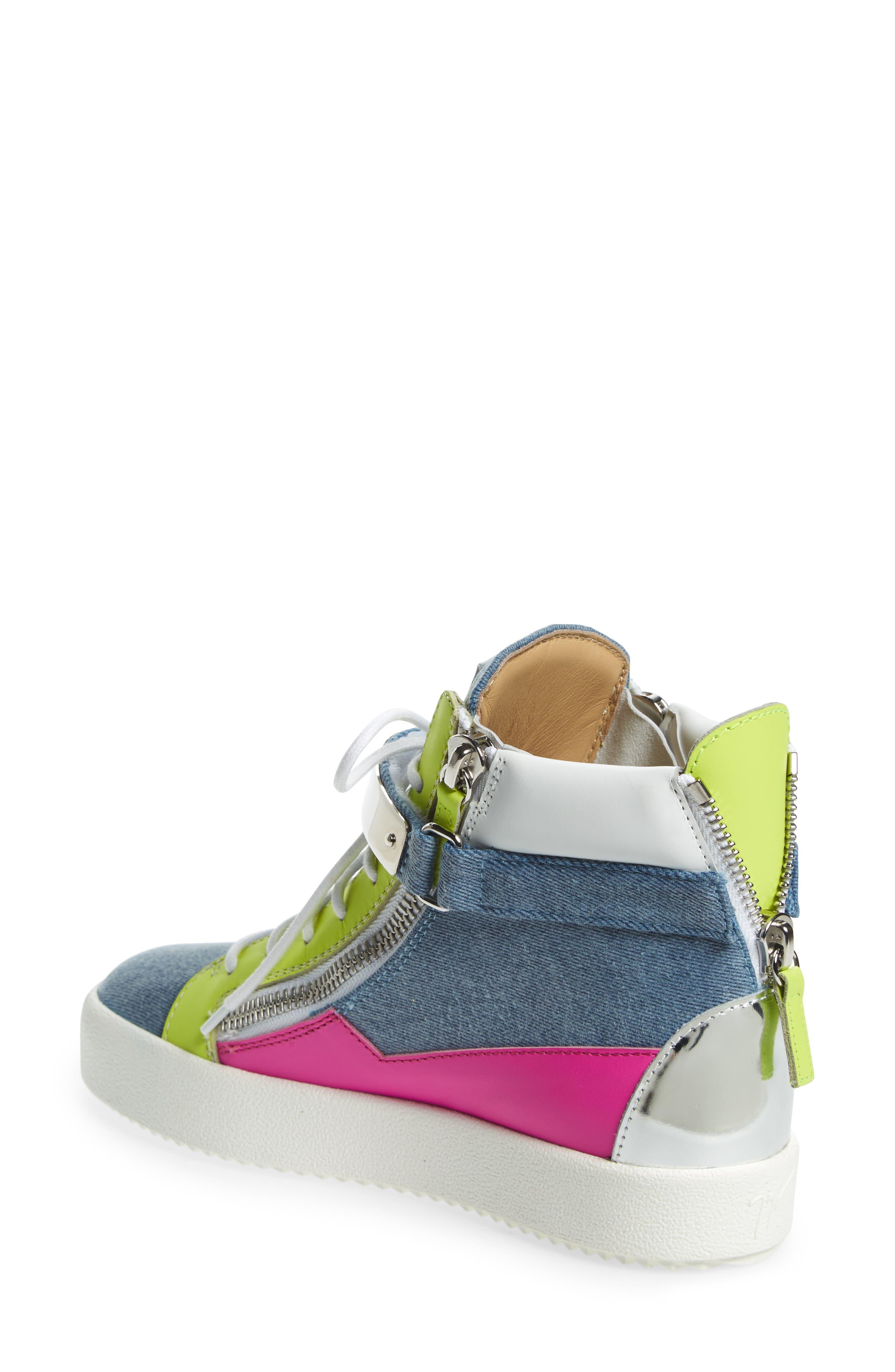 May London High Top Sneaker,                             Alternate thumbnail 2, color,                             Denim