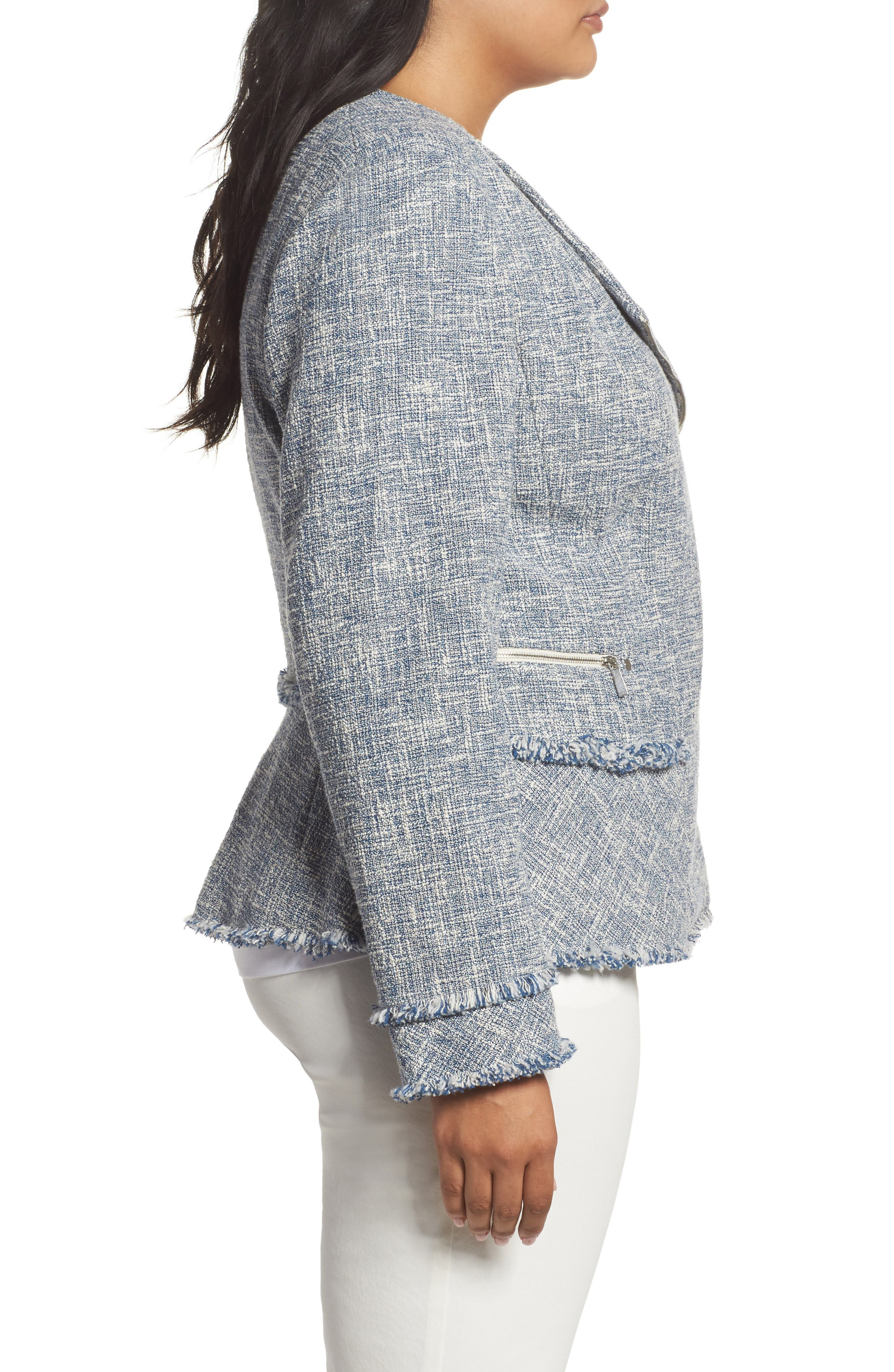 Alternate Image 3  - Lafayette 148 New York Owen Tweed Jacket (Plus Size)