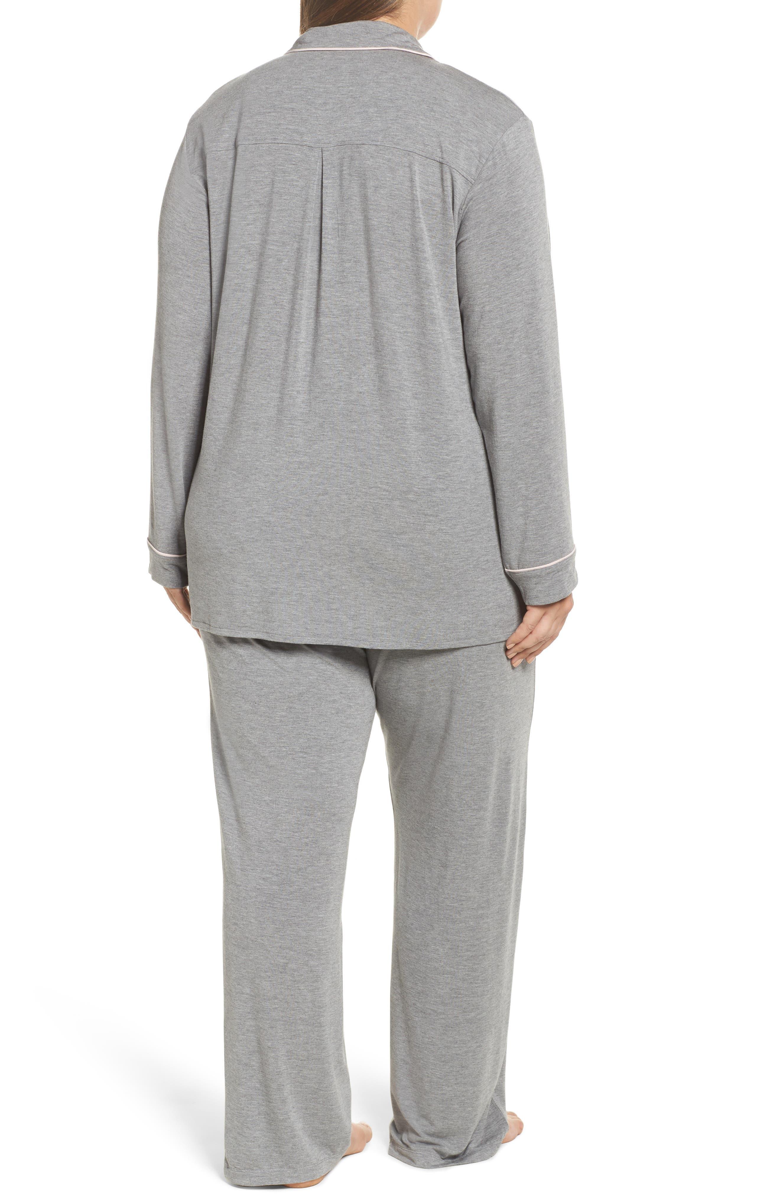 Alternate Image 2  - PJ Salvage Stretch Modal Pajamas & Eye Mask (Plus Size)