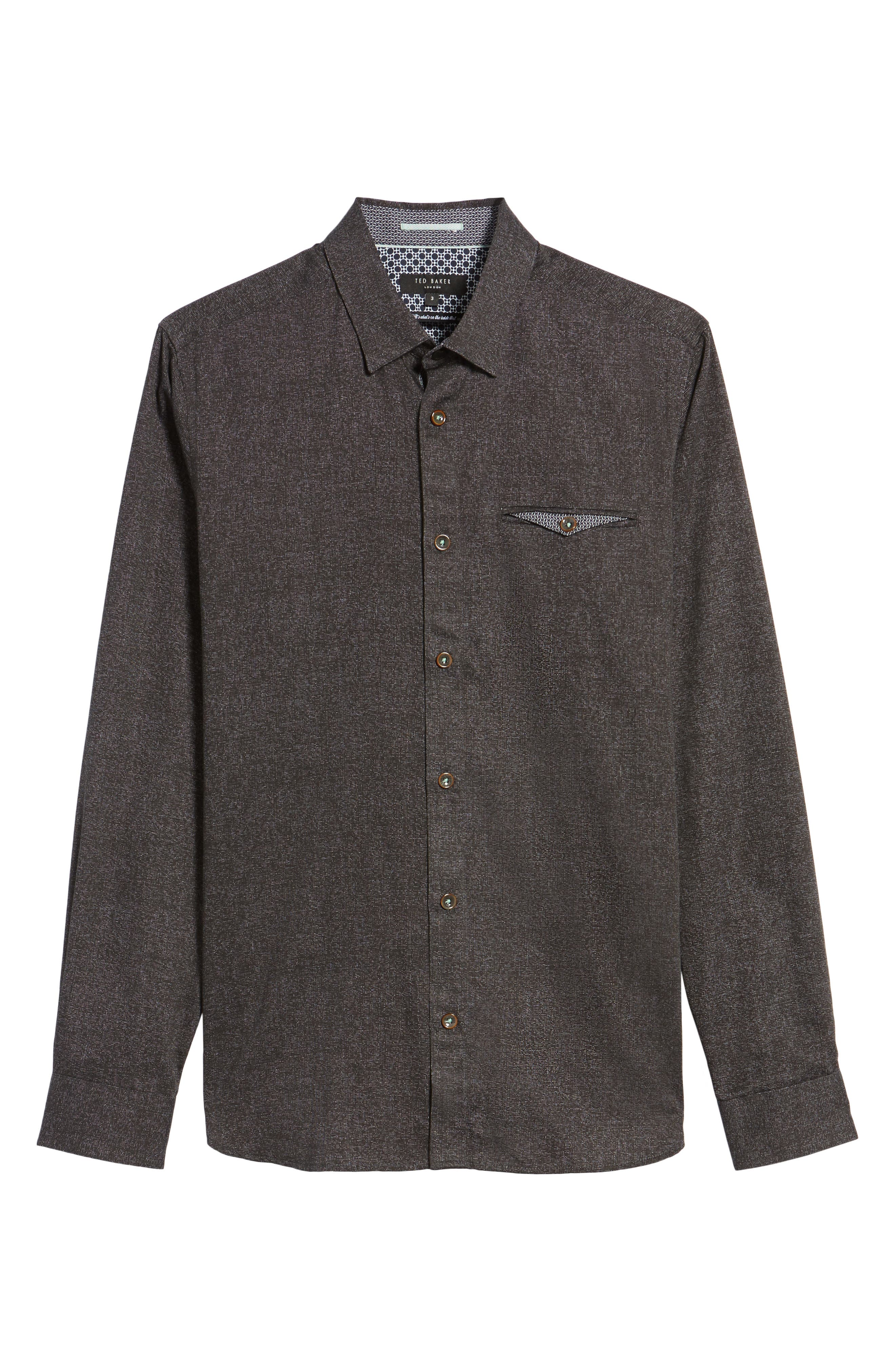 Alternate Image 6  - Ted Baker London Norbor Modern Slim Fit Microdot Print Sport Shirt