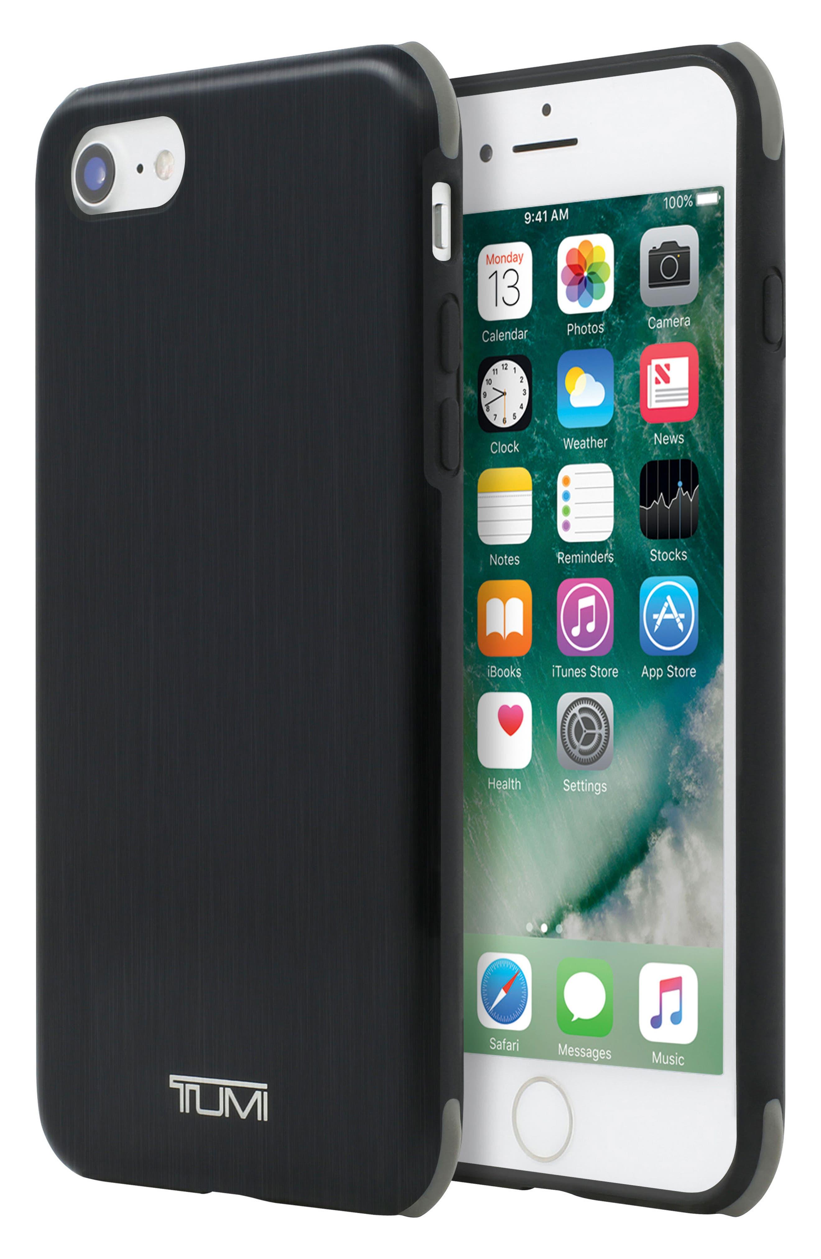 iPhone 8 Case,                             Alternate thumbnail 5, color,                             Matte Black/ Grey