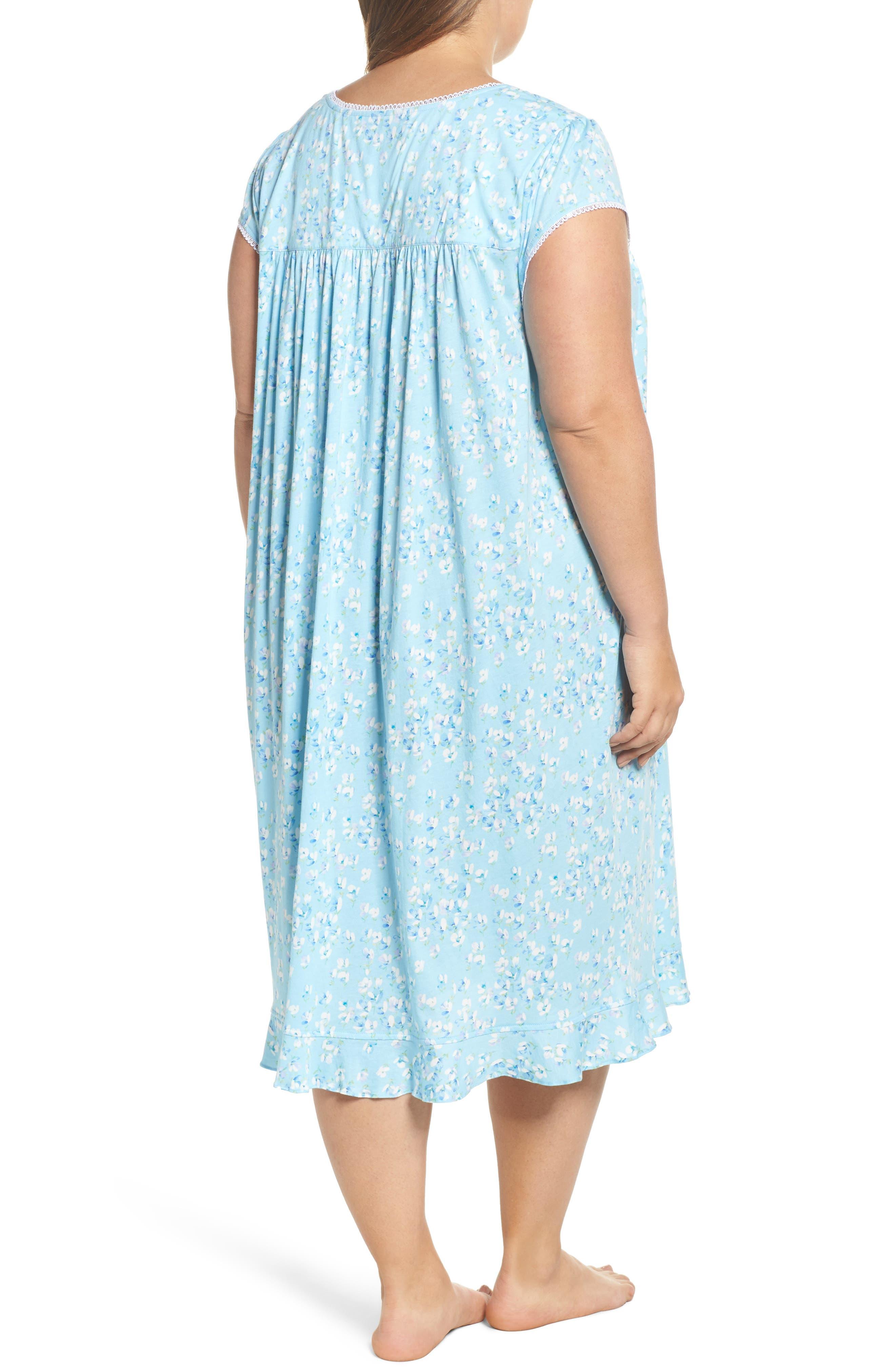 Waltz Nightgown,                             Alternate thumbnail 2, color,                             Light Sea Glass/ Multi Floral