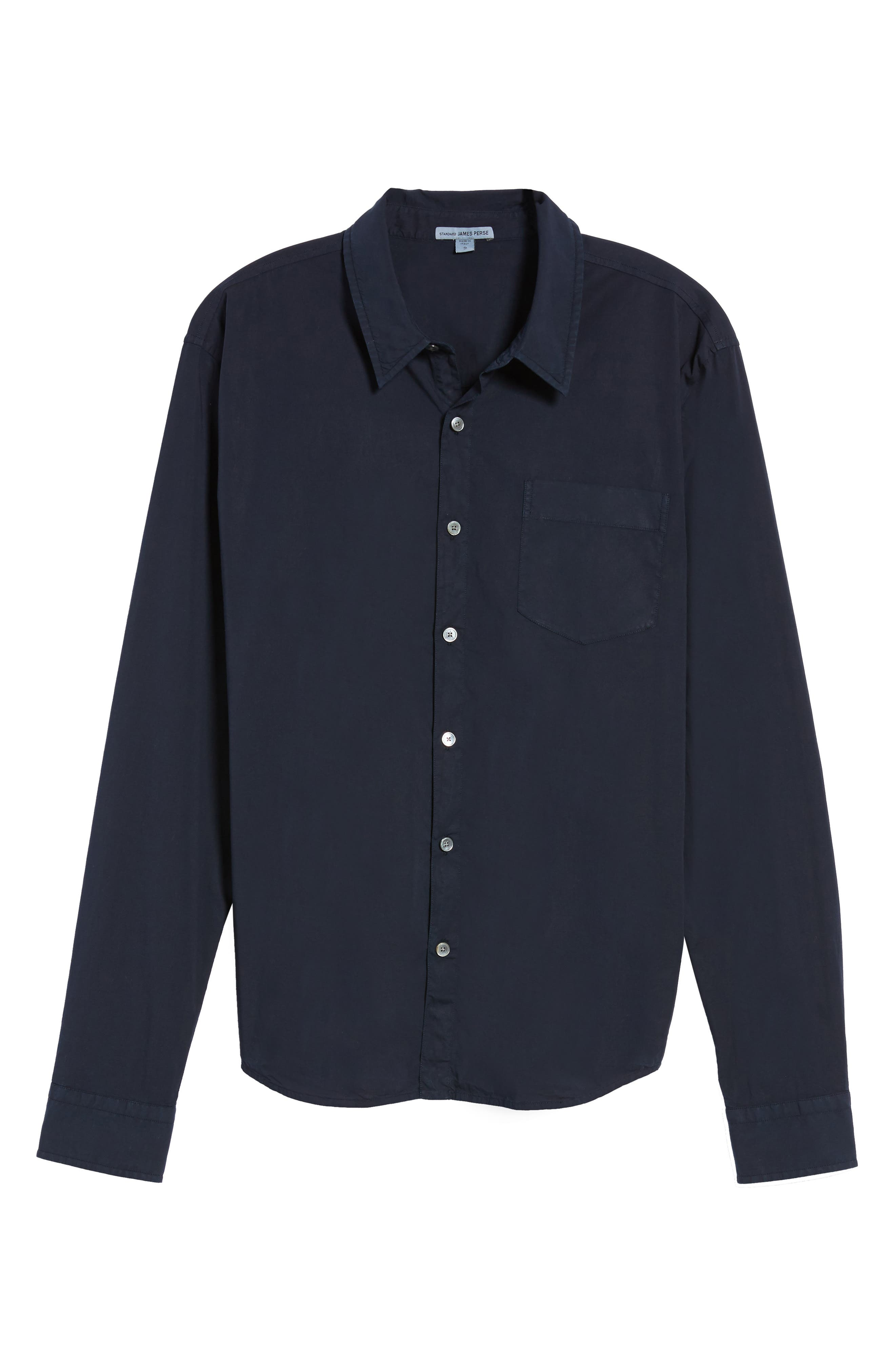 Relaxed Fit Sport Shirt,                             Alternate thumbnail 6, color,                             Blue Ink