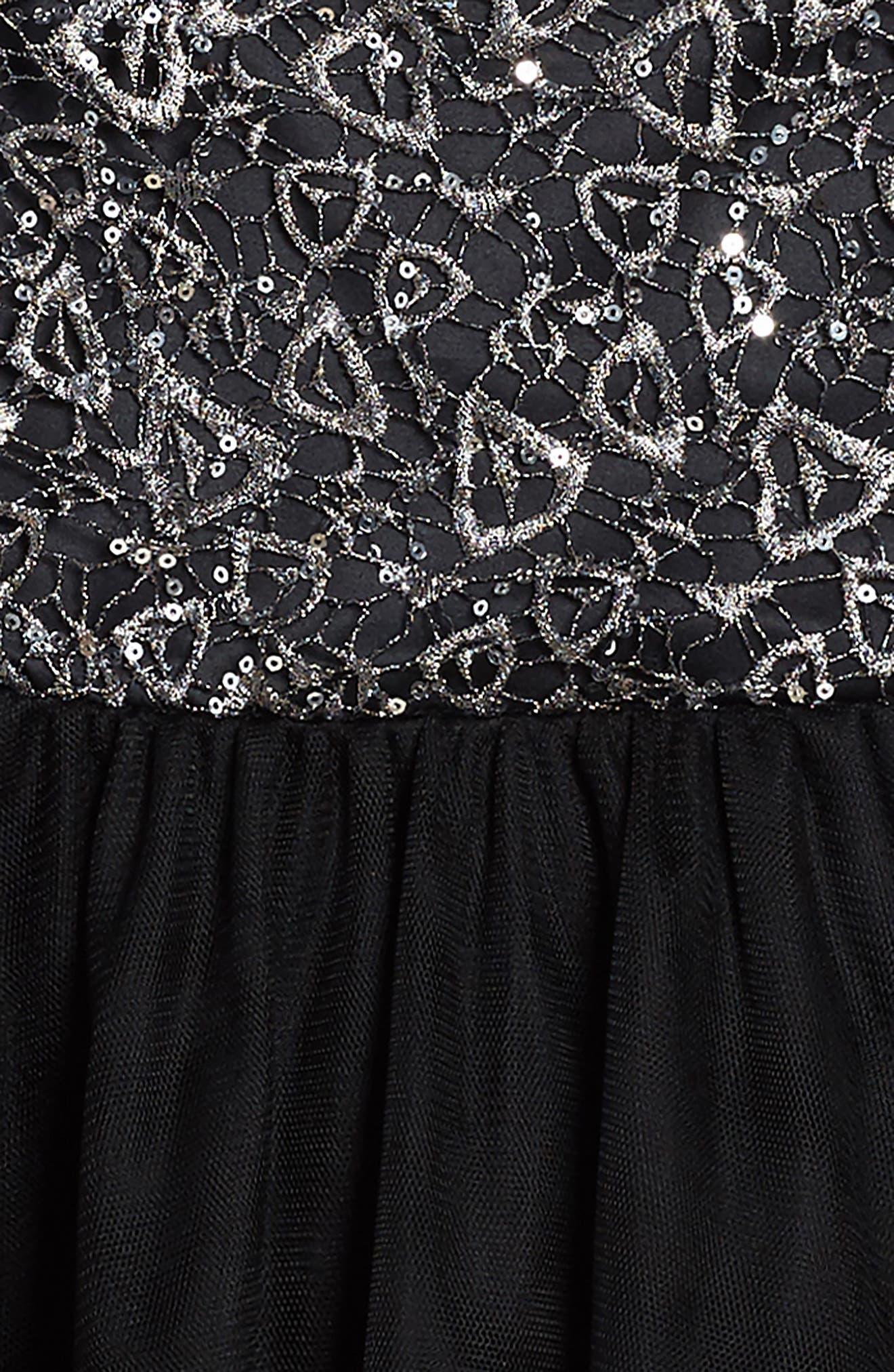 Bling Rocky Dress,                             Alternate thumbnail 3, color,                             Black