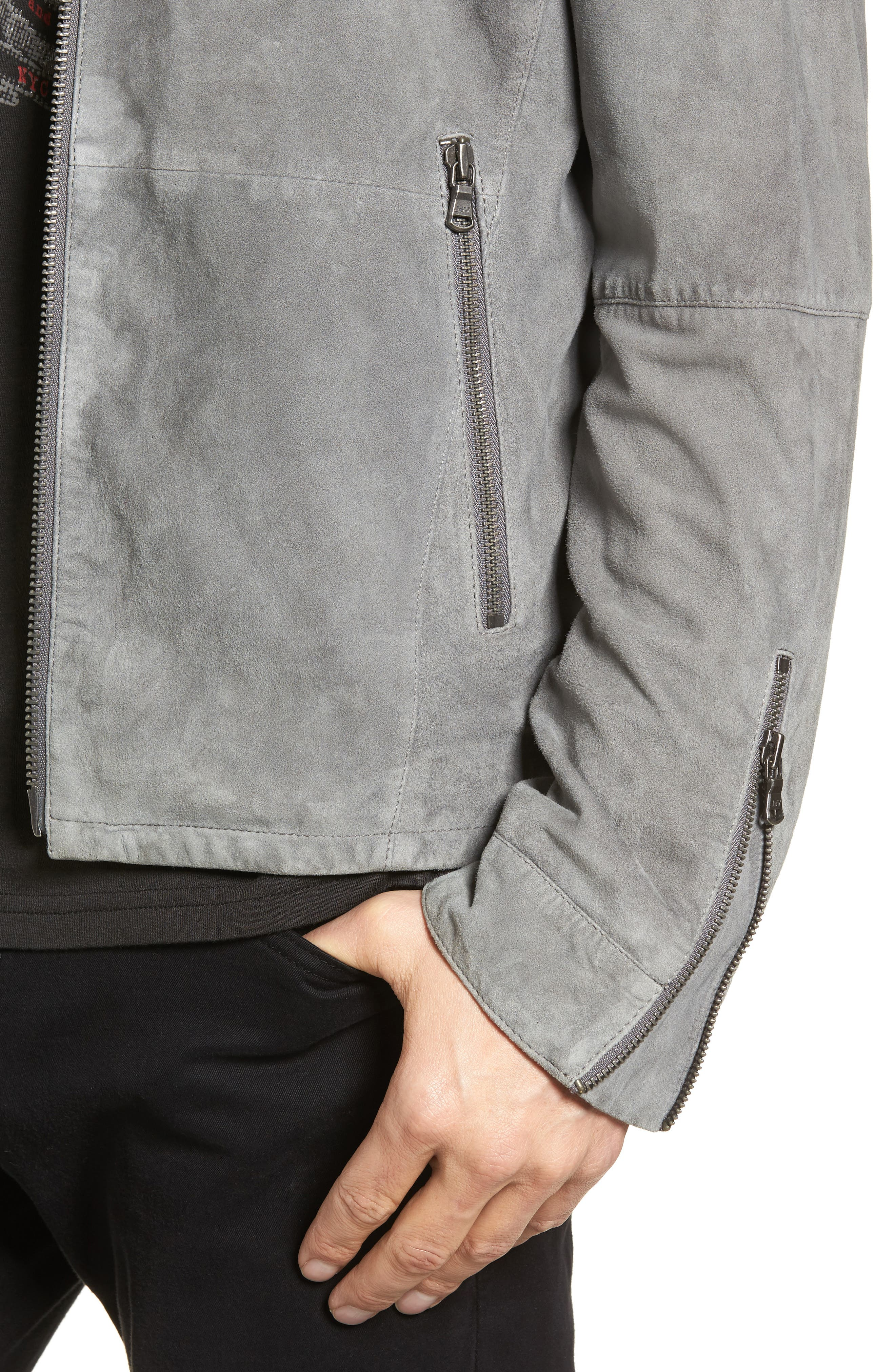 Alternate Image 4  - John Varvatos Star USA Leather Racer Jacket