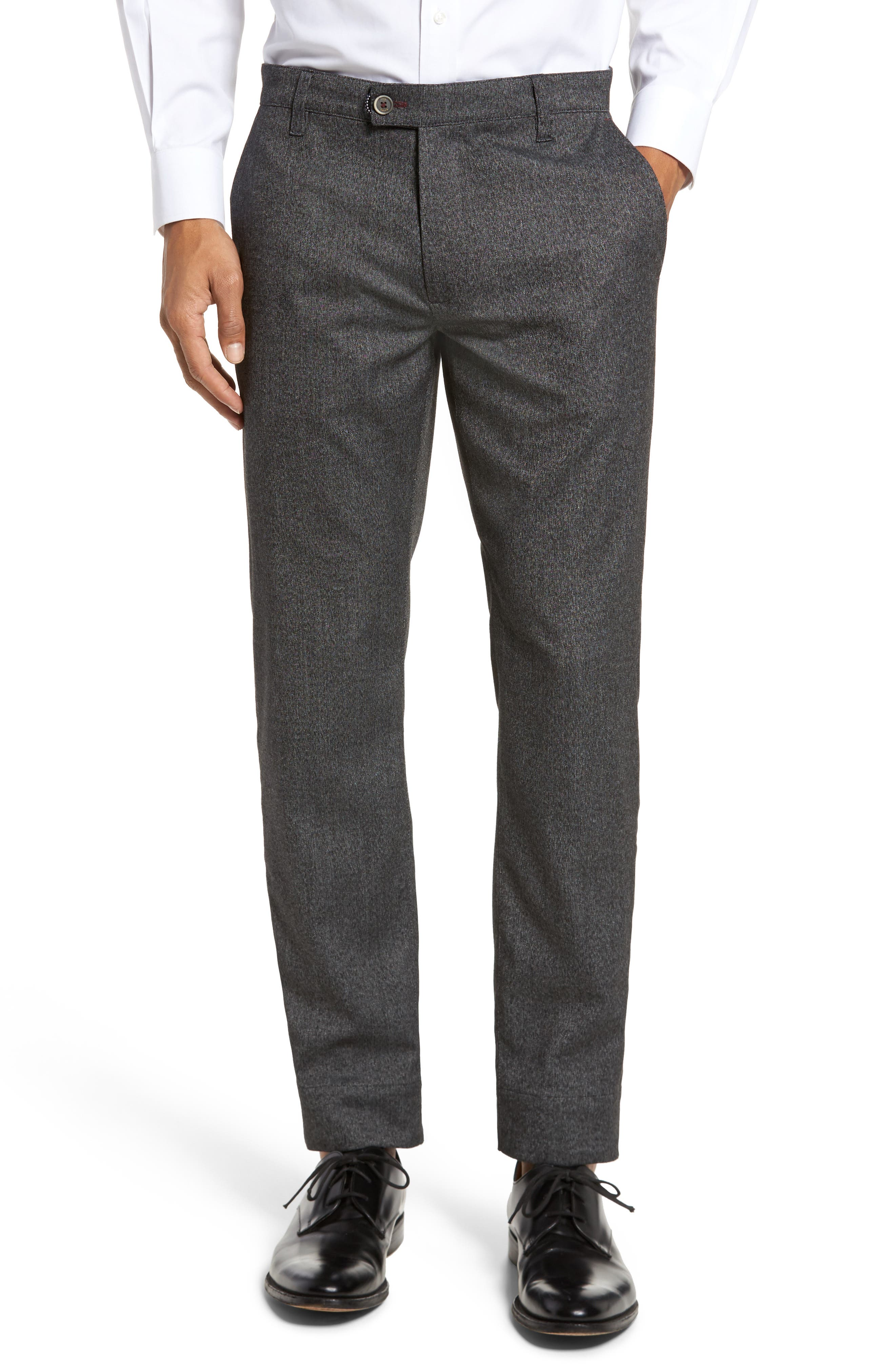 Slim Fit Trousers,                         Main,                         color, Charcoal