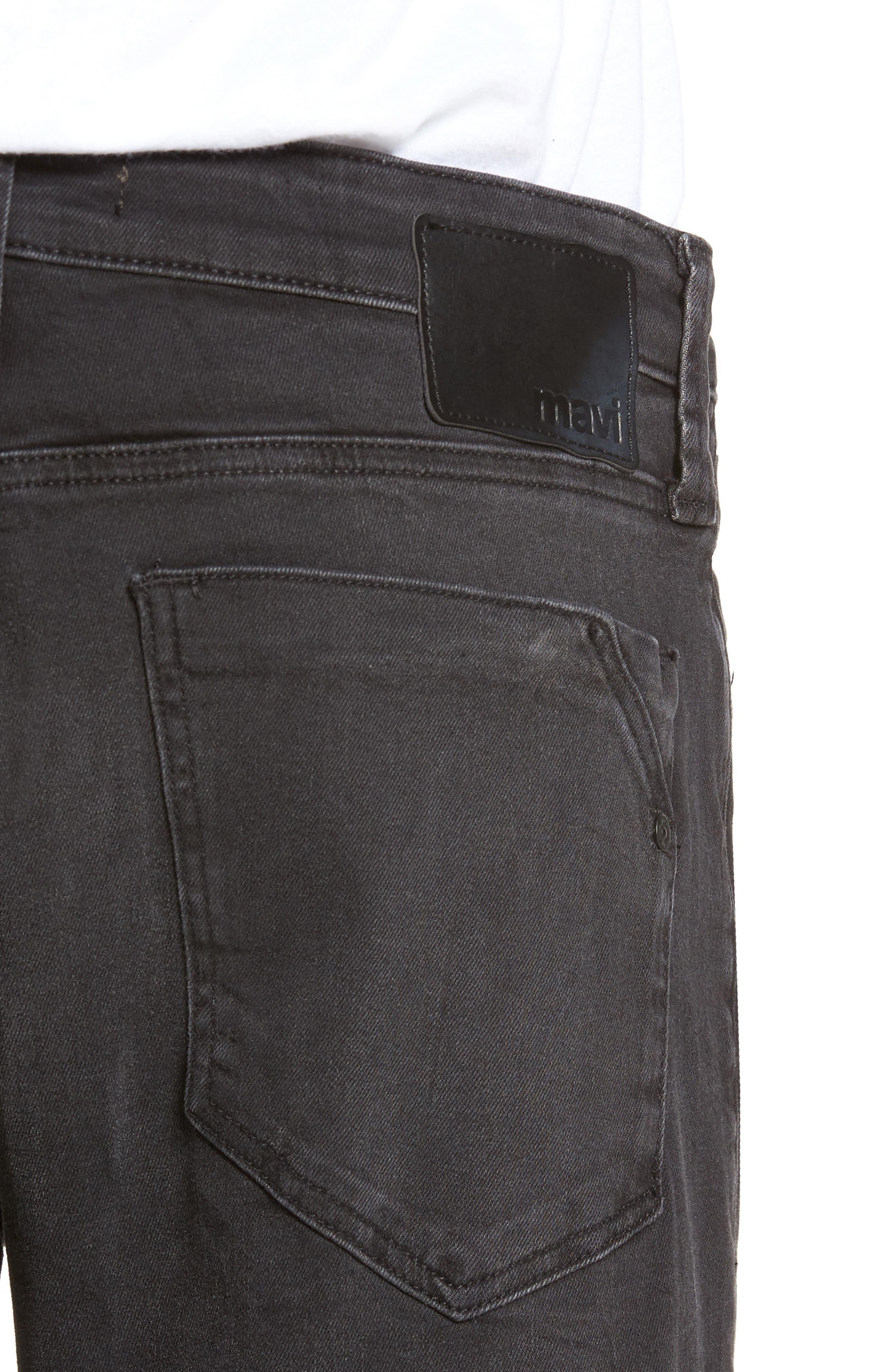 Alternate Image 4  - Mavi Jeans Myles Straight Fit Jeans (Smoke Chelsea)
