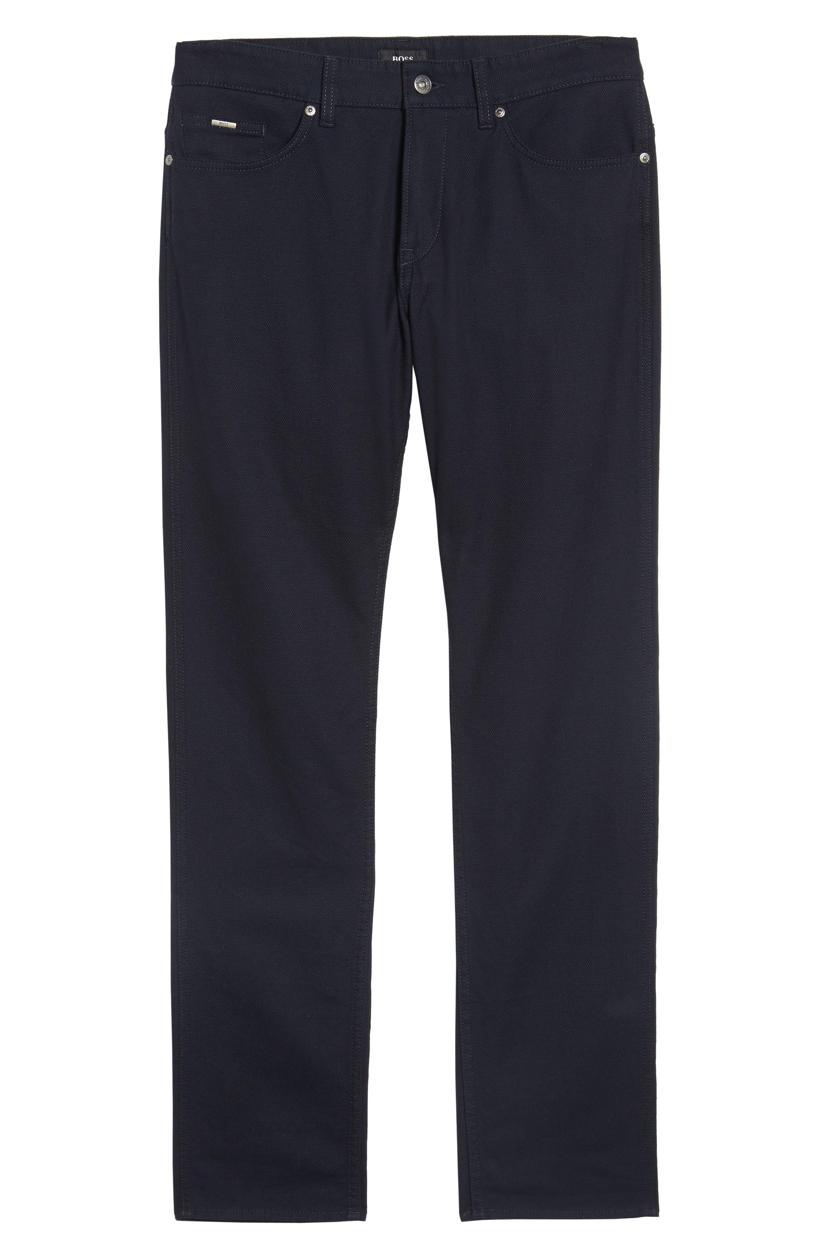 Alternate Image 6  - BOSS Delaware Slim Microtexture Five Pocket Pants