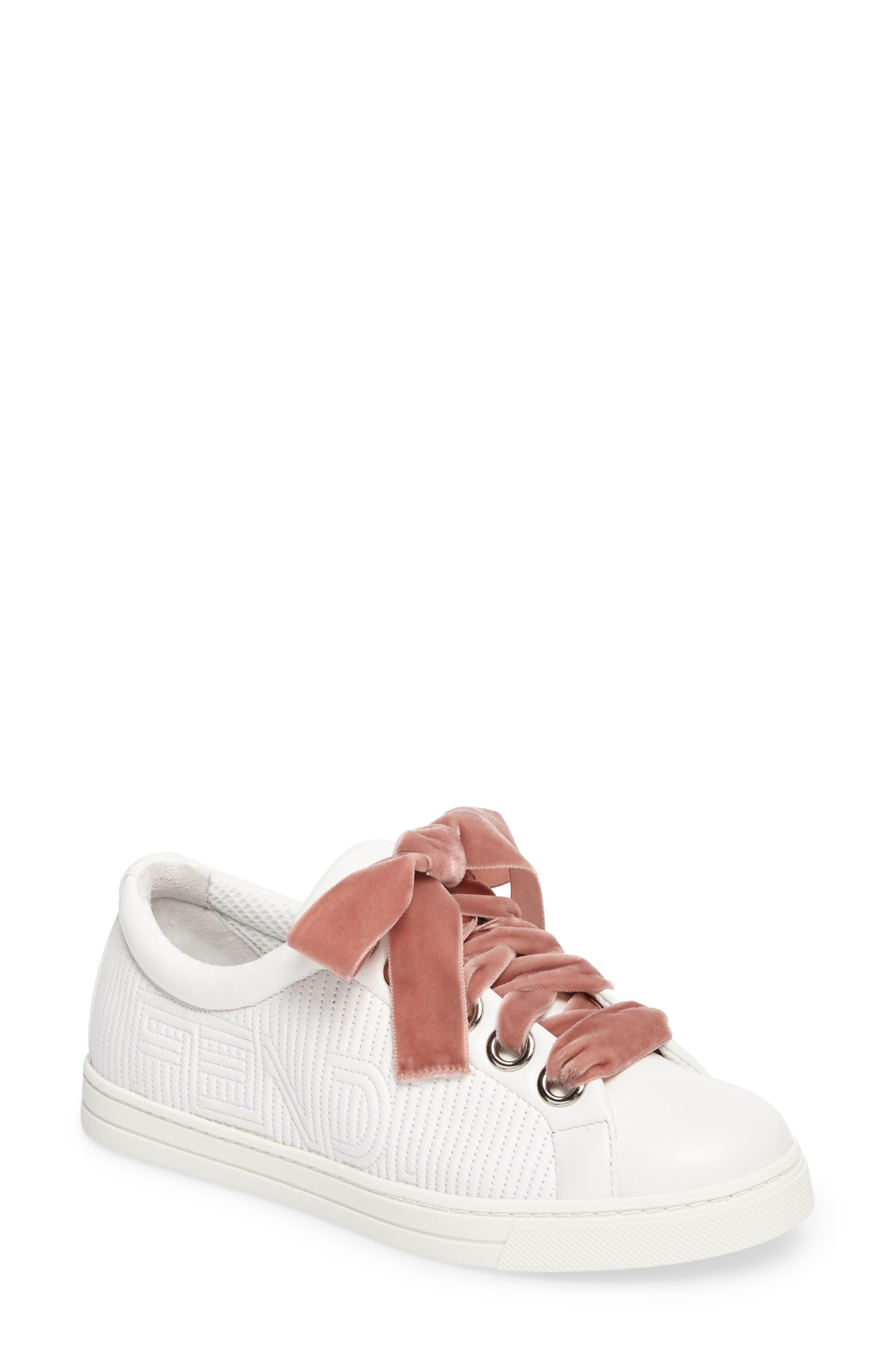 Matelassé Sneaker,                             Main thumbnail 1, color,                             White