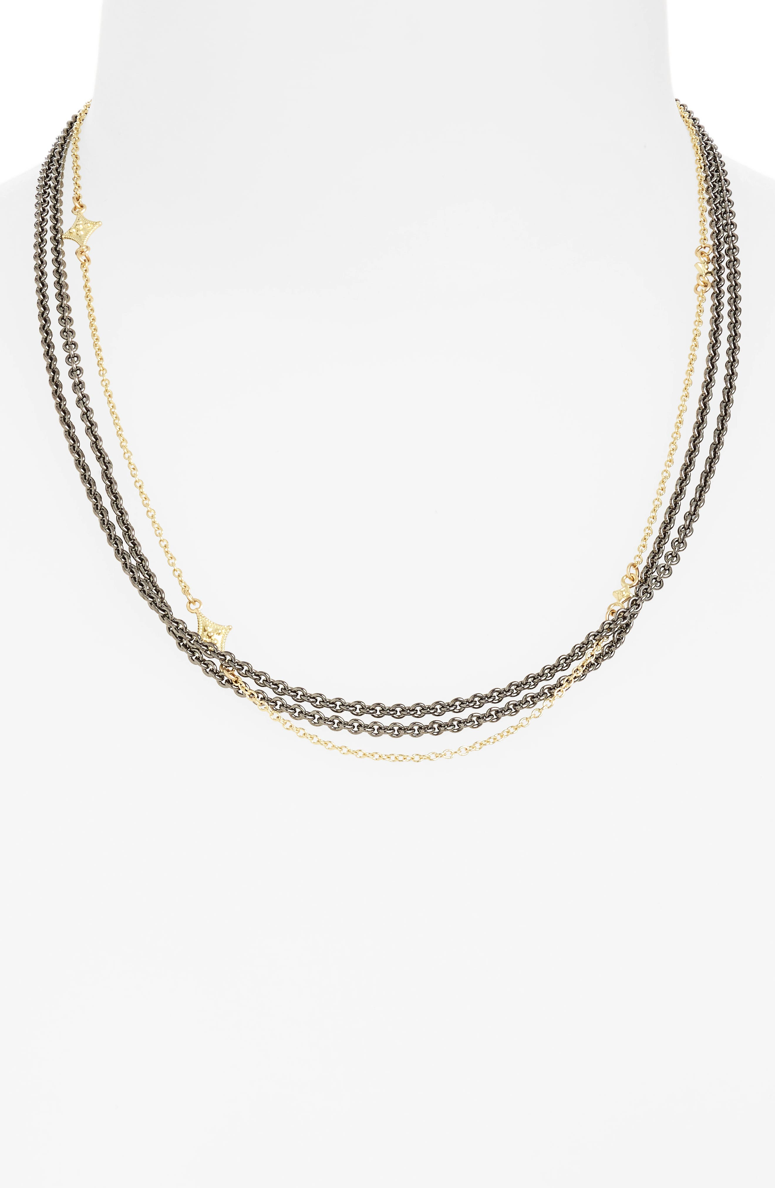 Old World Crivelli Collar Necklace,                         Main,                         color, Gold