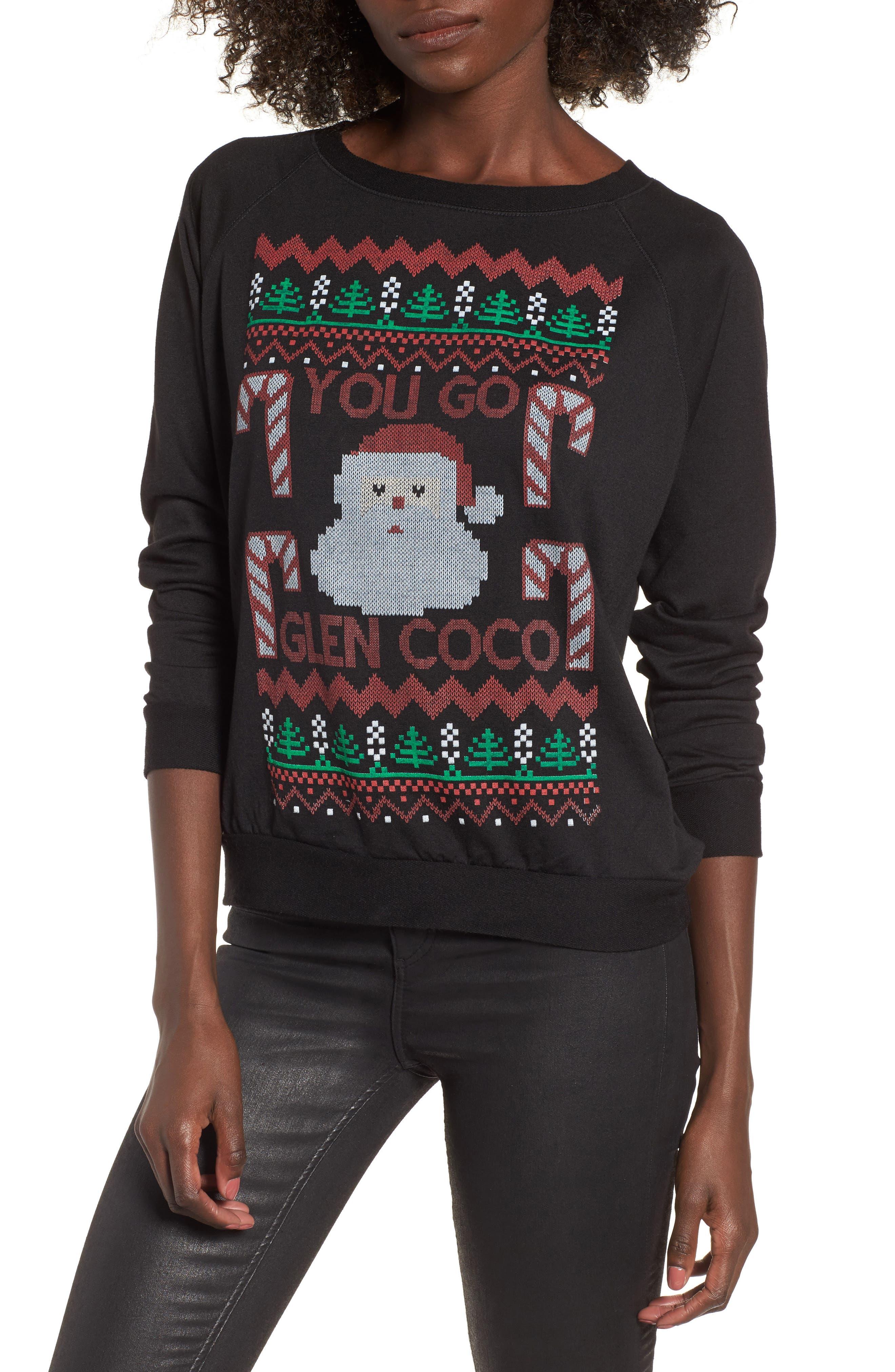 You Go Glen Coco Sweatshirt,                         Main,                         color, Black