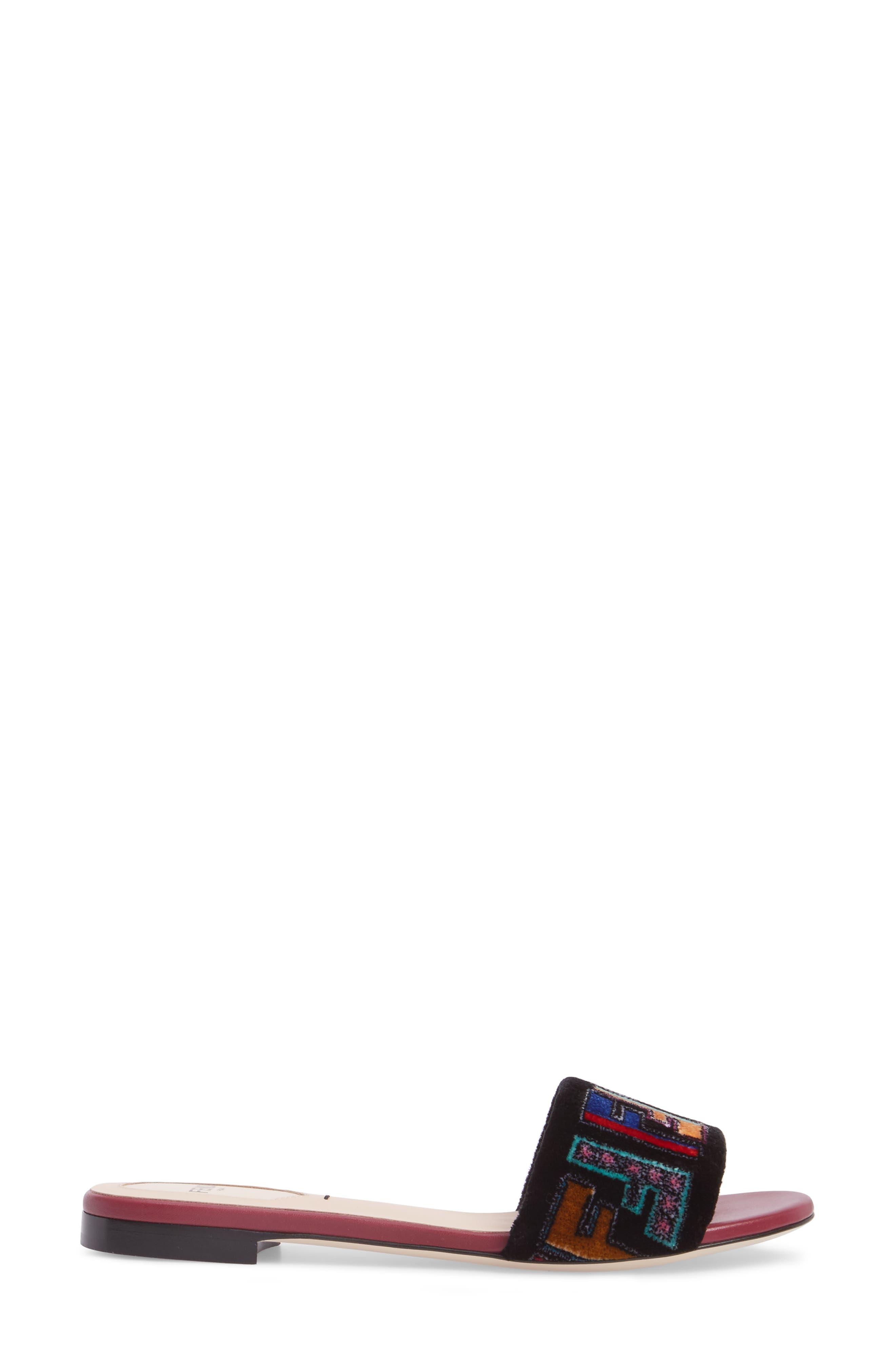 Alternate Image 3  - Fendi Logo Slide Sandal (Women)