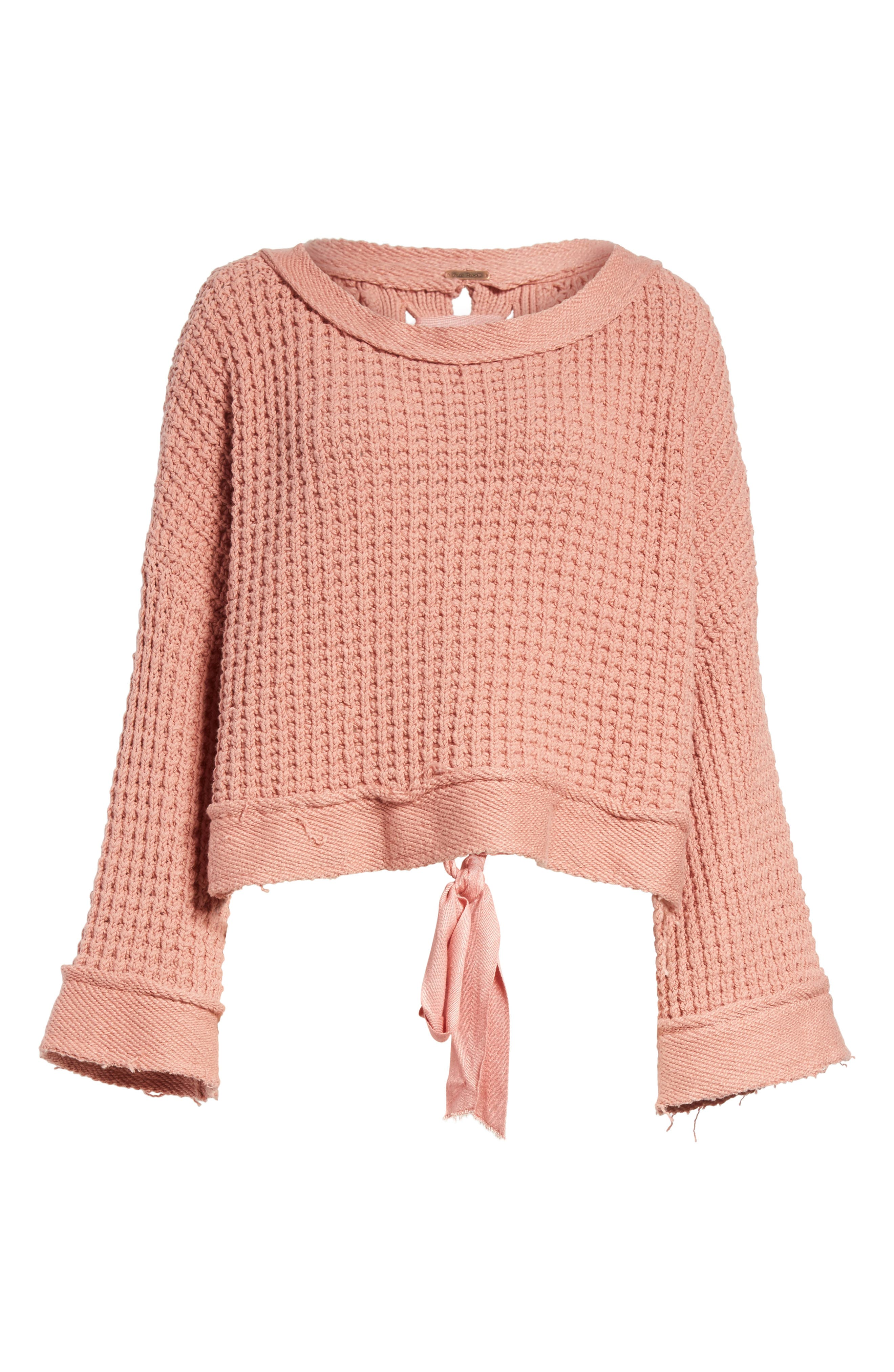 Maybe Baby Bell Sleeve Sweater,                             Alternate thumbnail 6, color,                             Rose