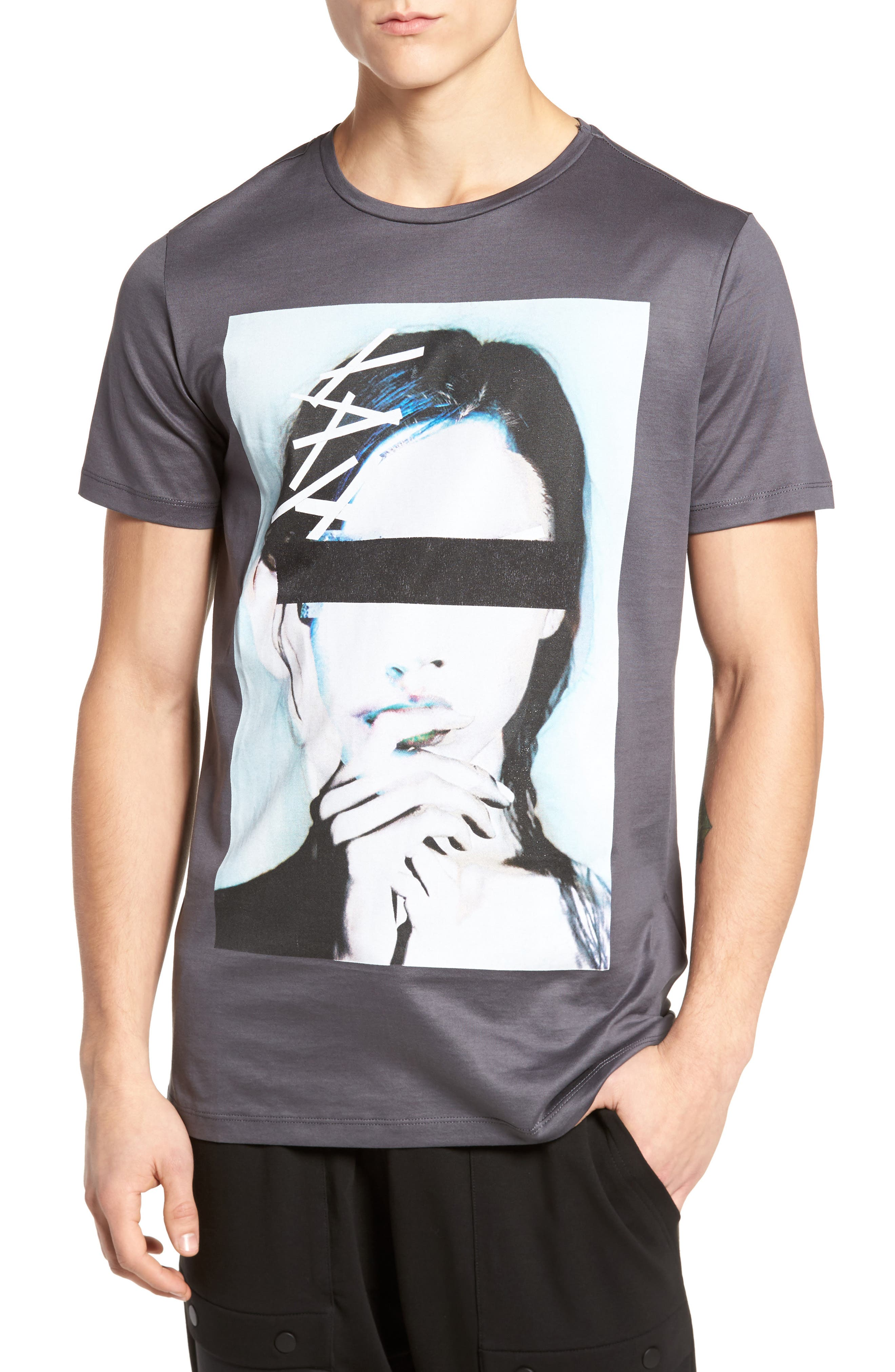 Print T-ShirtIn,                         Main,                         color, London Grey