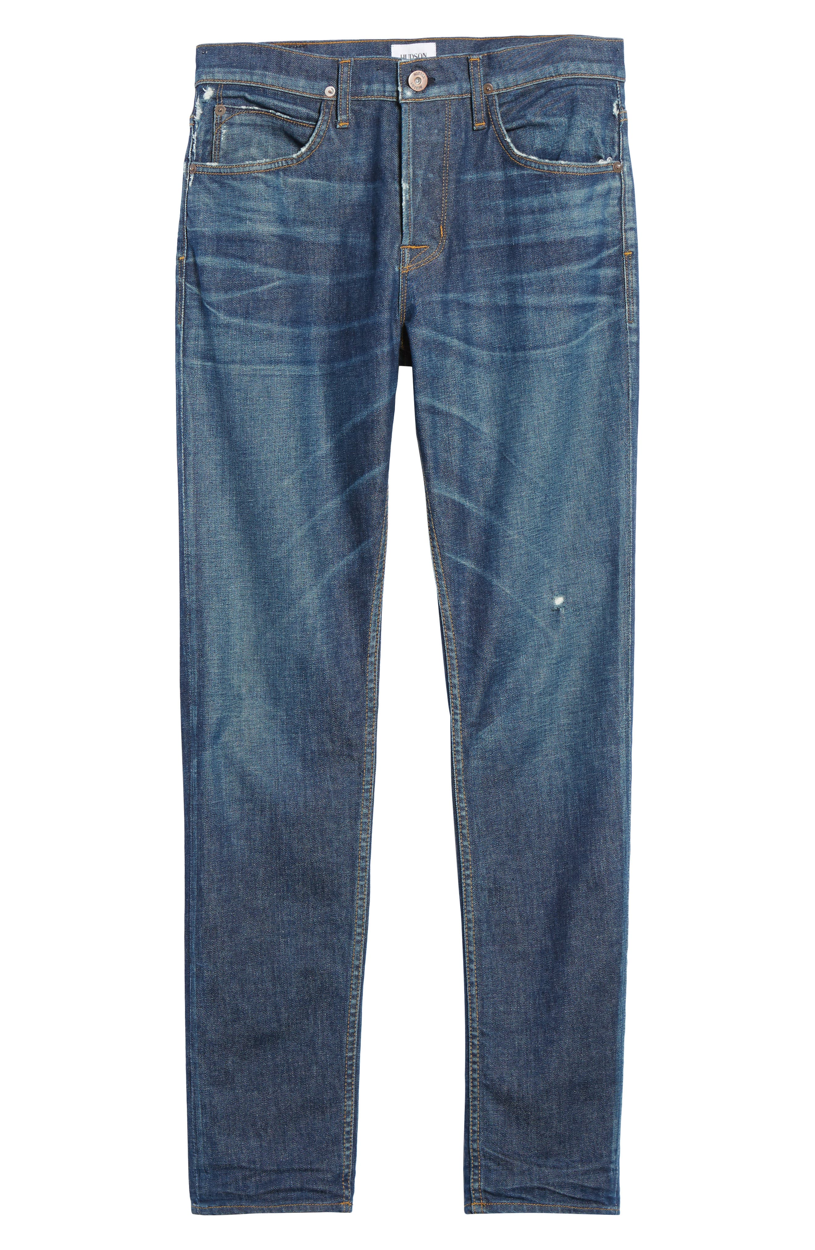 Alternate Image 5  - Hudson Jeans Axl Skinny Fit Jeans (Falling Down)