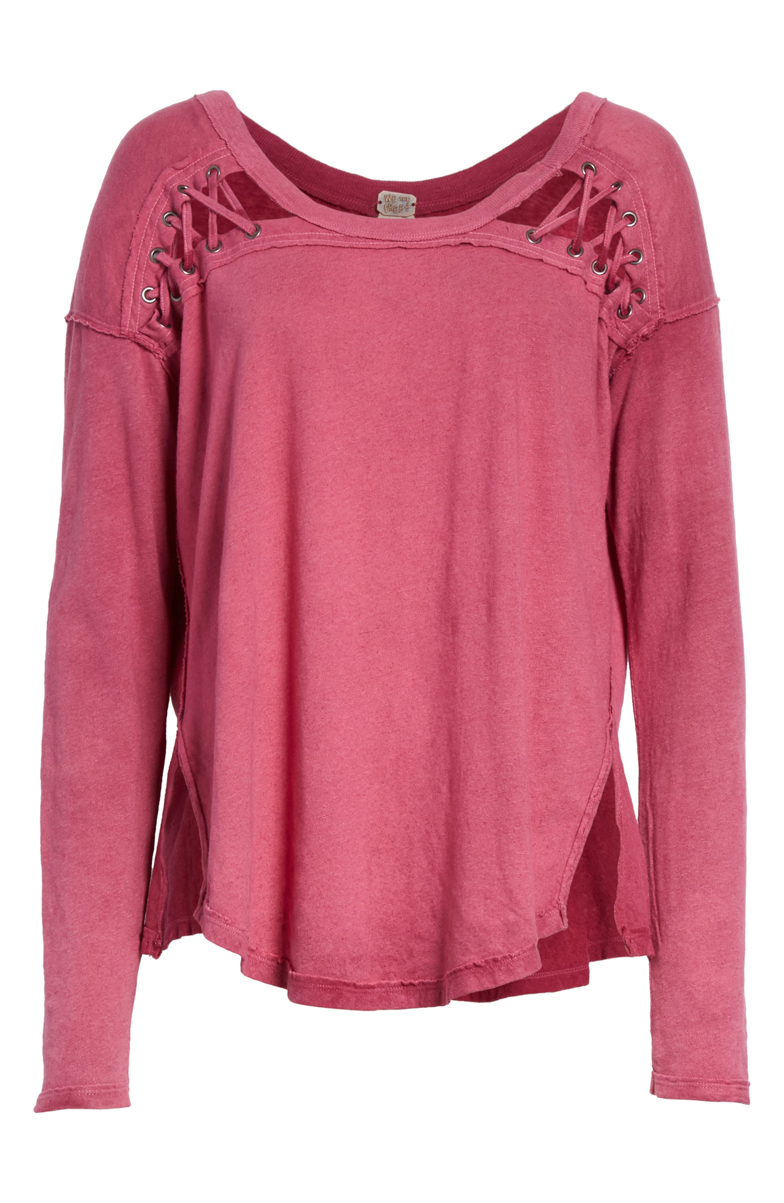 Alternate Image 6  - Free People First Love Lace-Up Tee