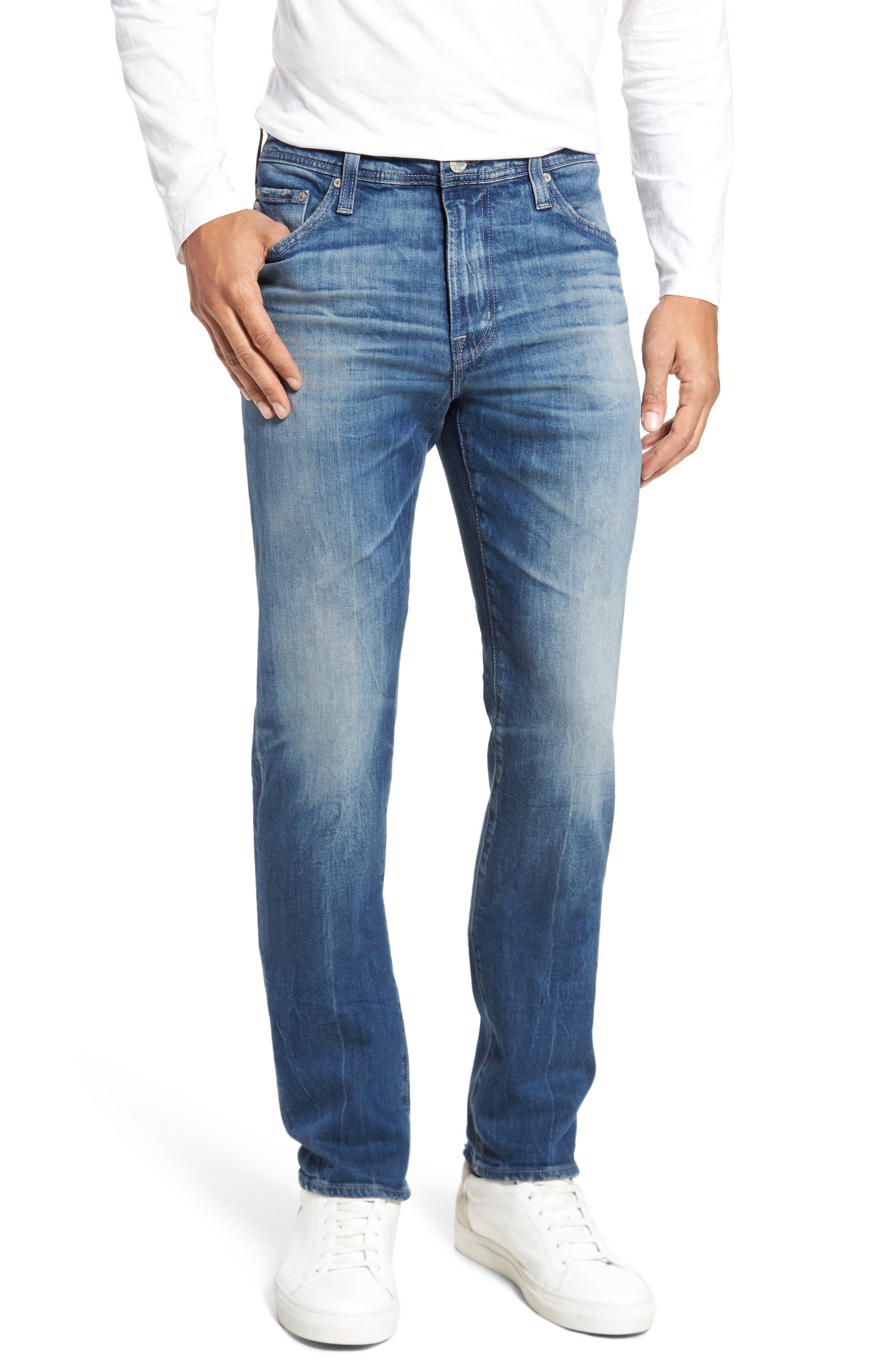 Main Image - AG Everett Slim Straight Leg Jeans (12 Year Off Ramp)